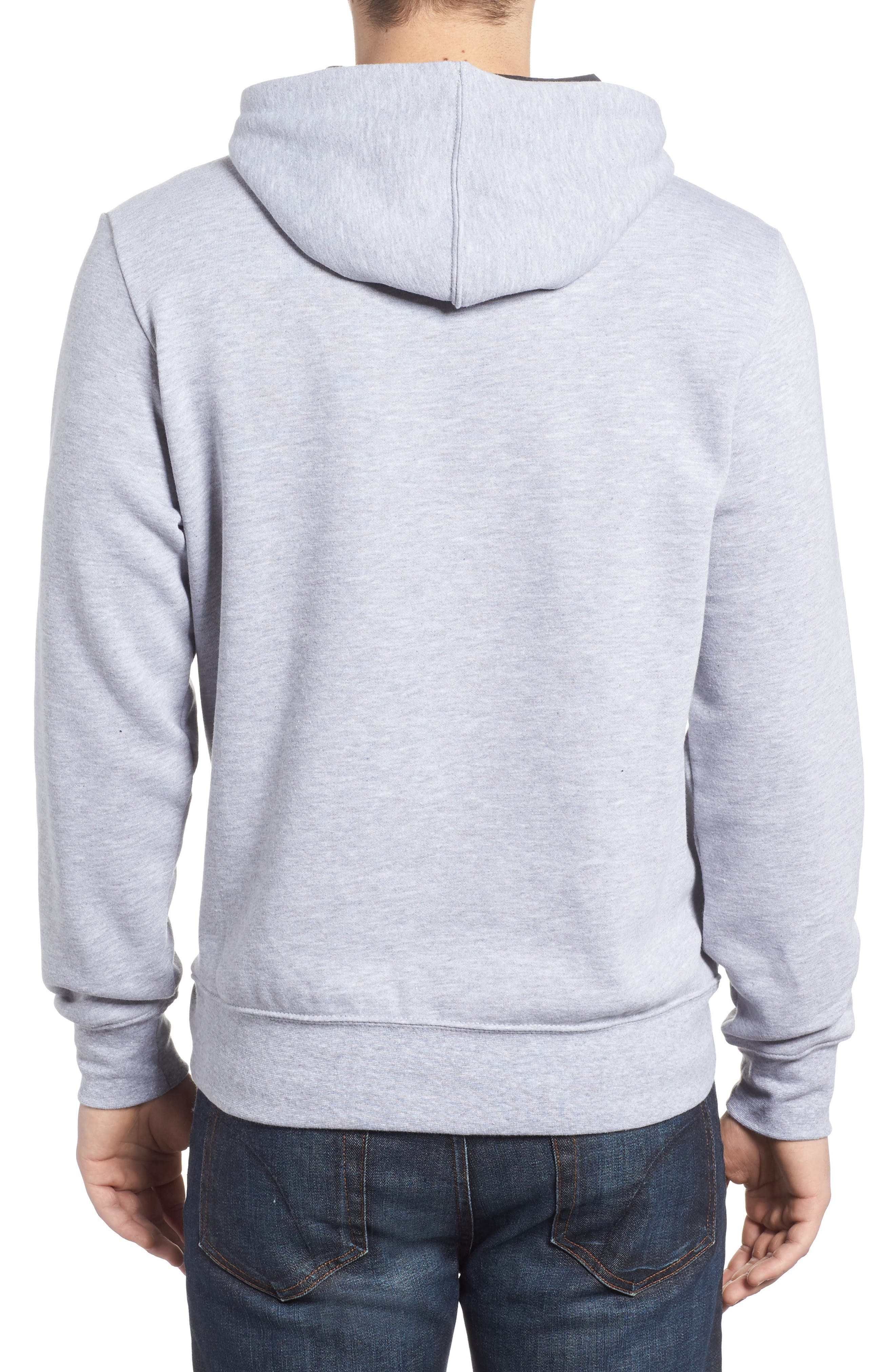Trivert Cotton Blend Hoodie,                             Alternate thumbnail 2, color,                             Light Grey/ Asphalt Grey Multi
