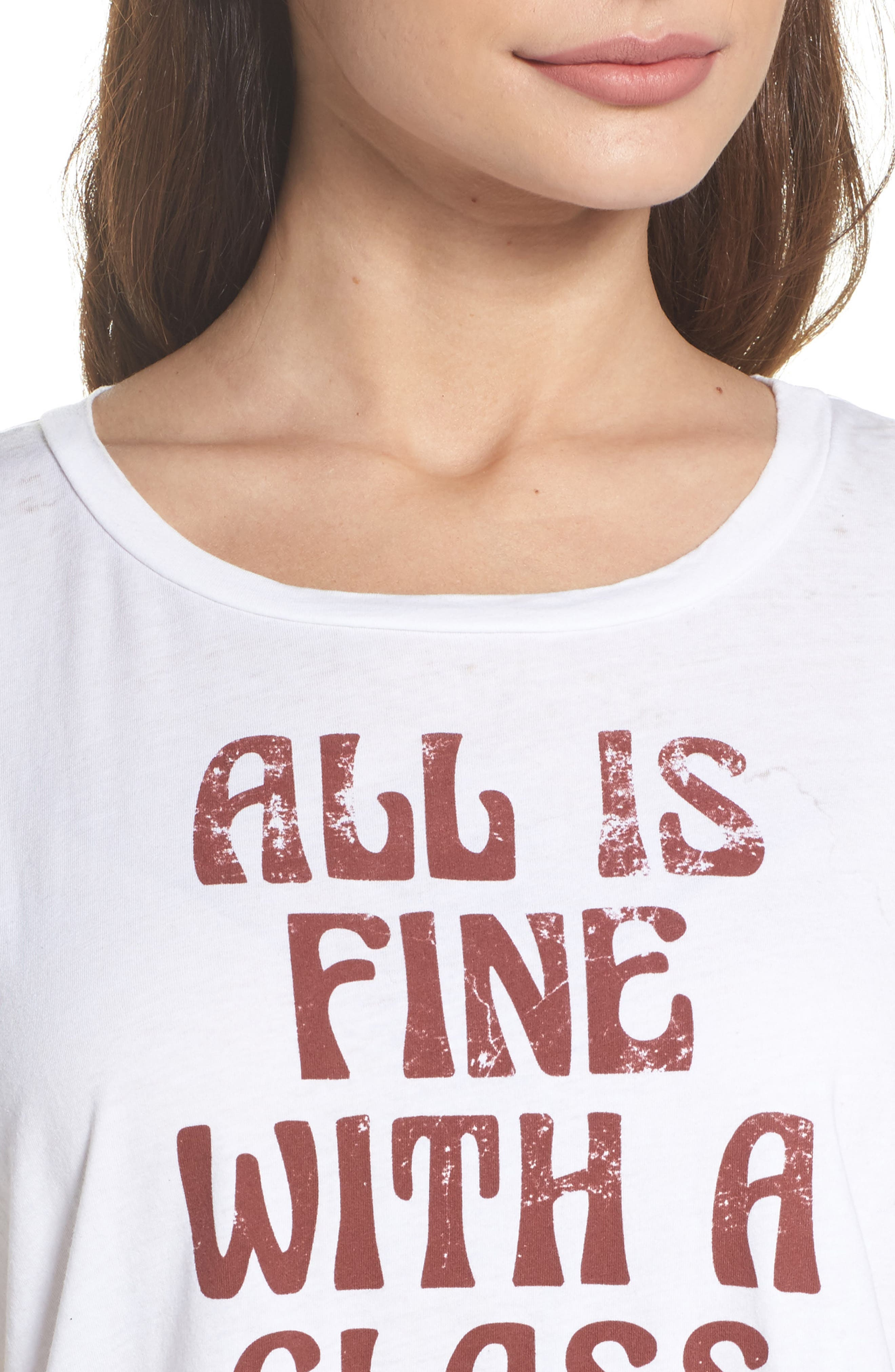 Alternate Image 4  - Chaser All is Fine Vintage Jersey Tee