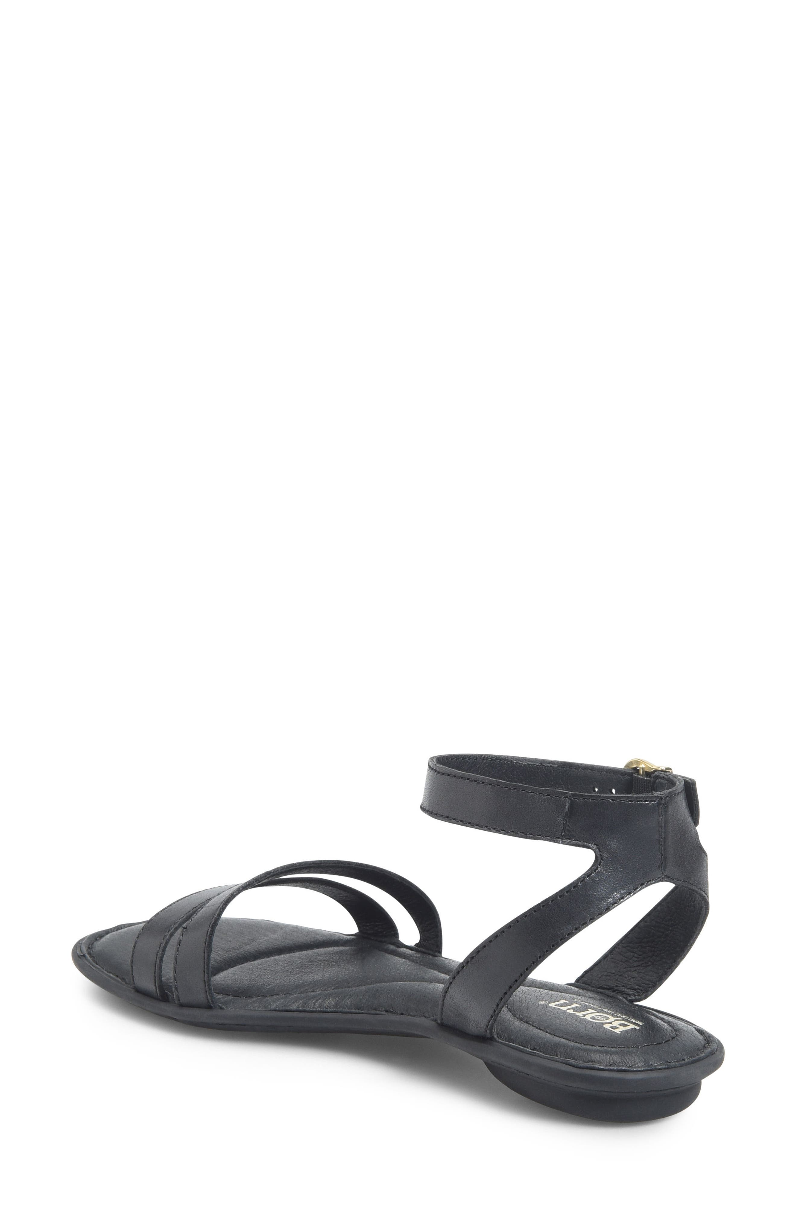 Mai Easy Sandal,                             Alternate thumbnail 2, color,                             Black Leather