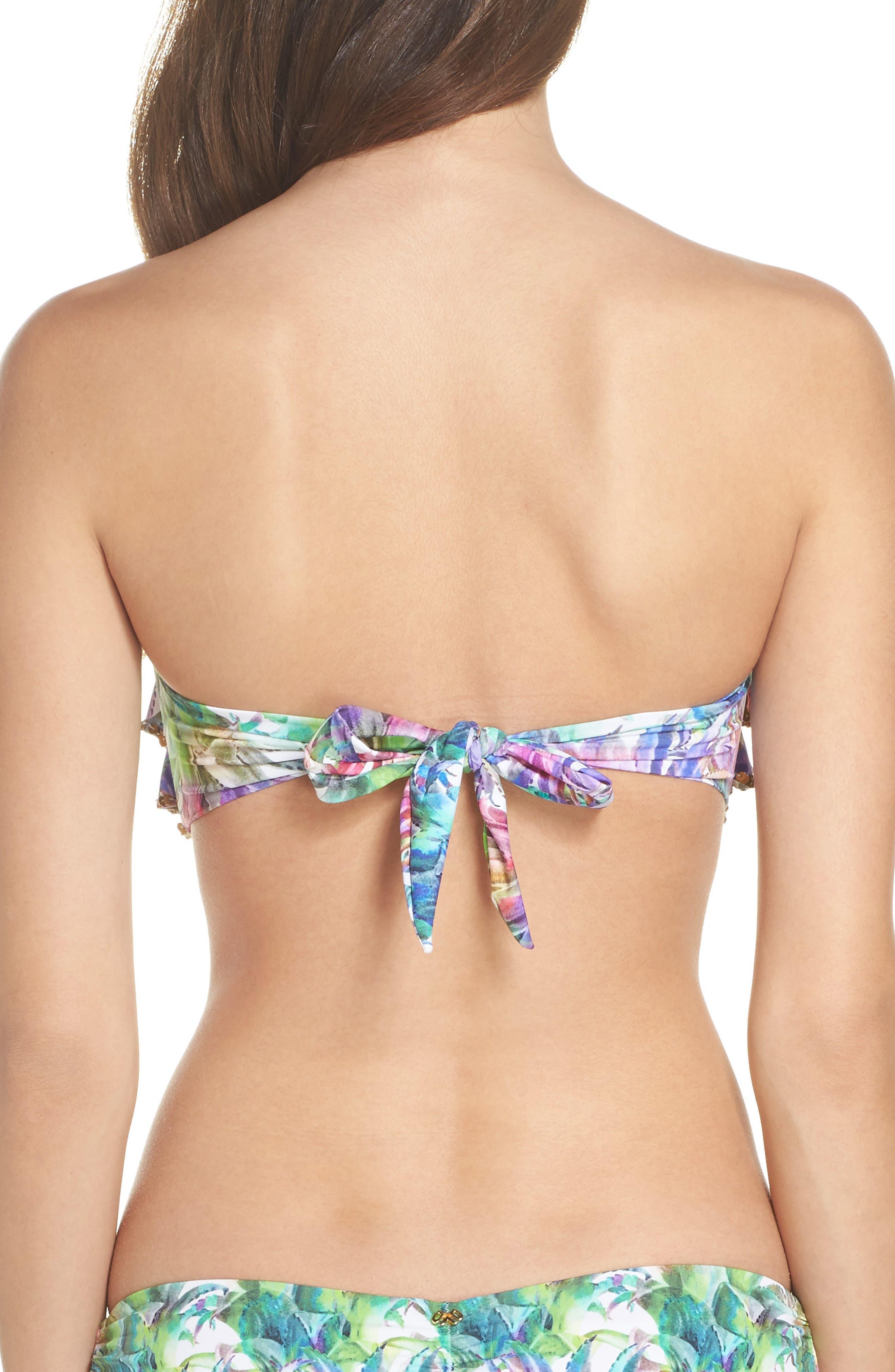 Sequin Ruffle Bandeau Bikini Top,                             Alternate thumbnail 2, color,                             Lanai