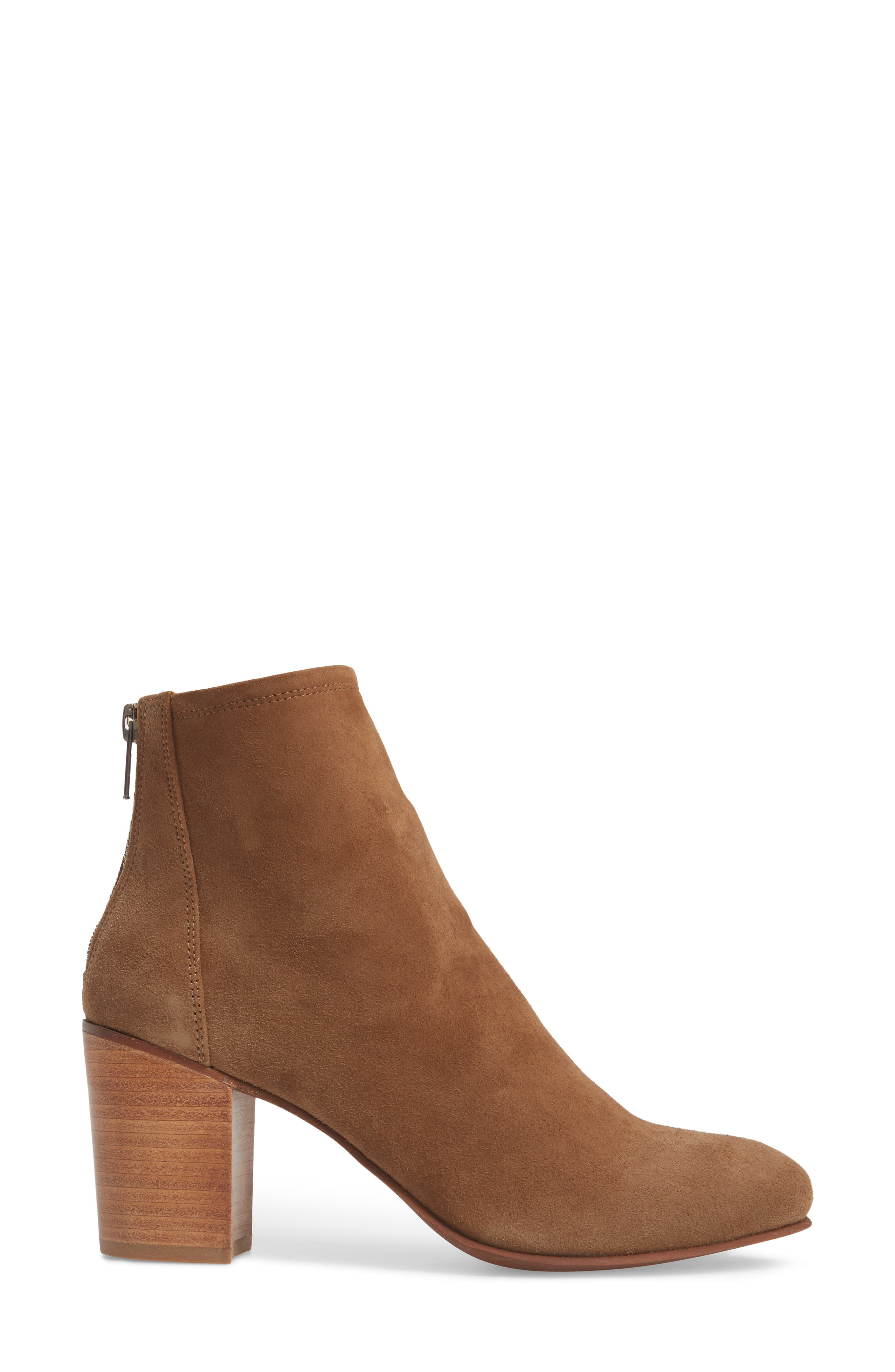Tawny Bootie,                             Alternate thumbnail 3, color,                             Khaki Suede