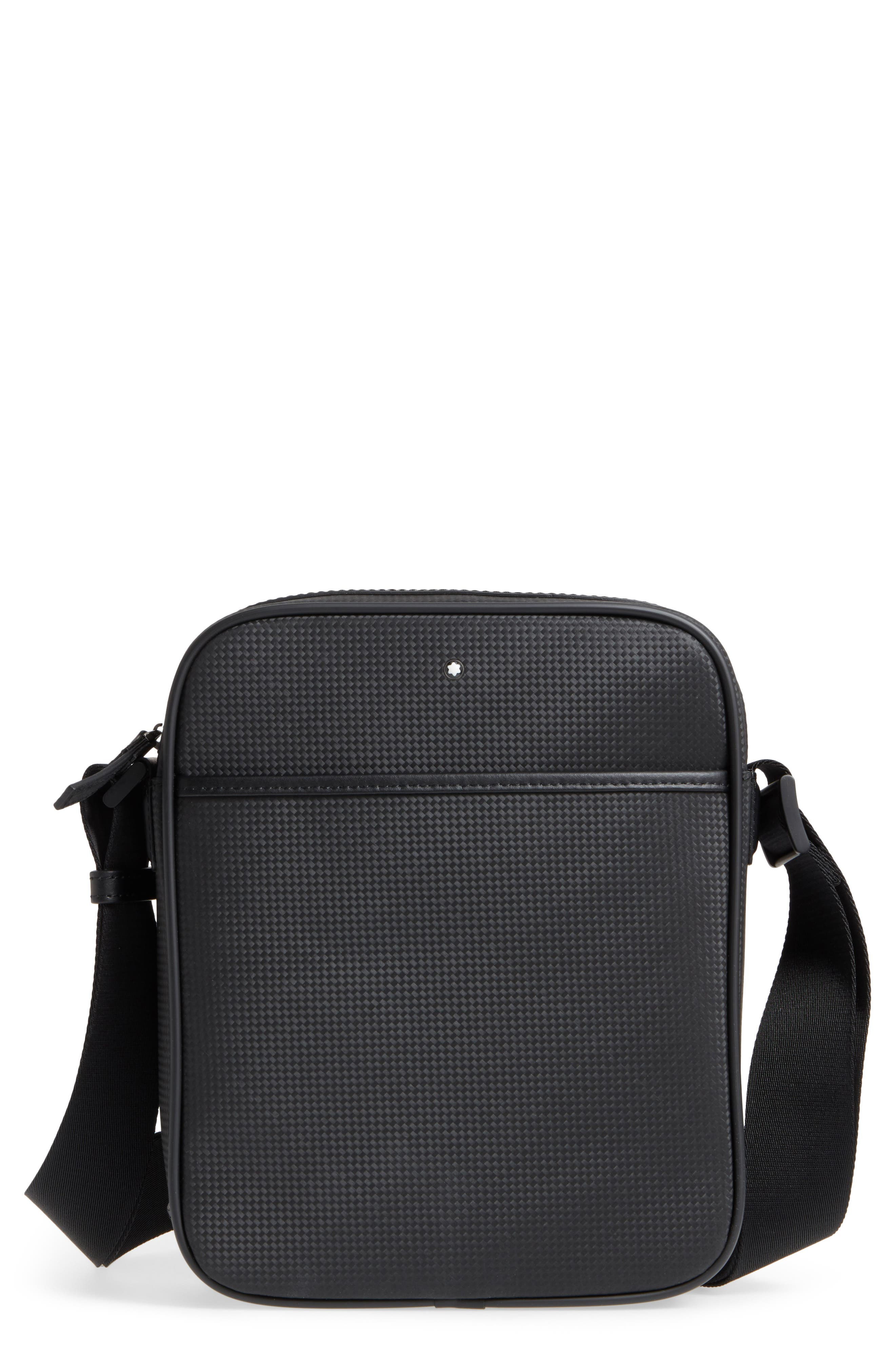 Extreme Reporter Leather Bag,                         Main,                         color, Black