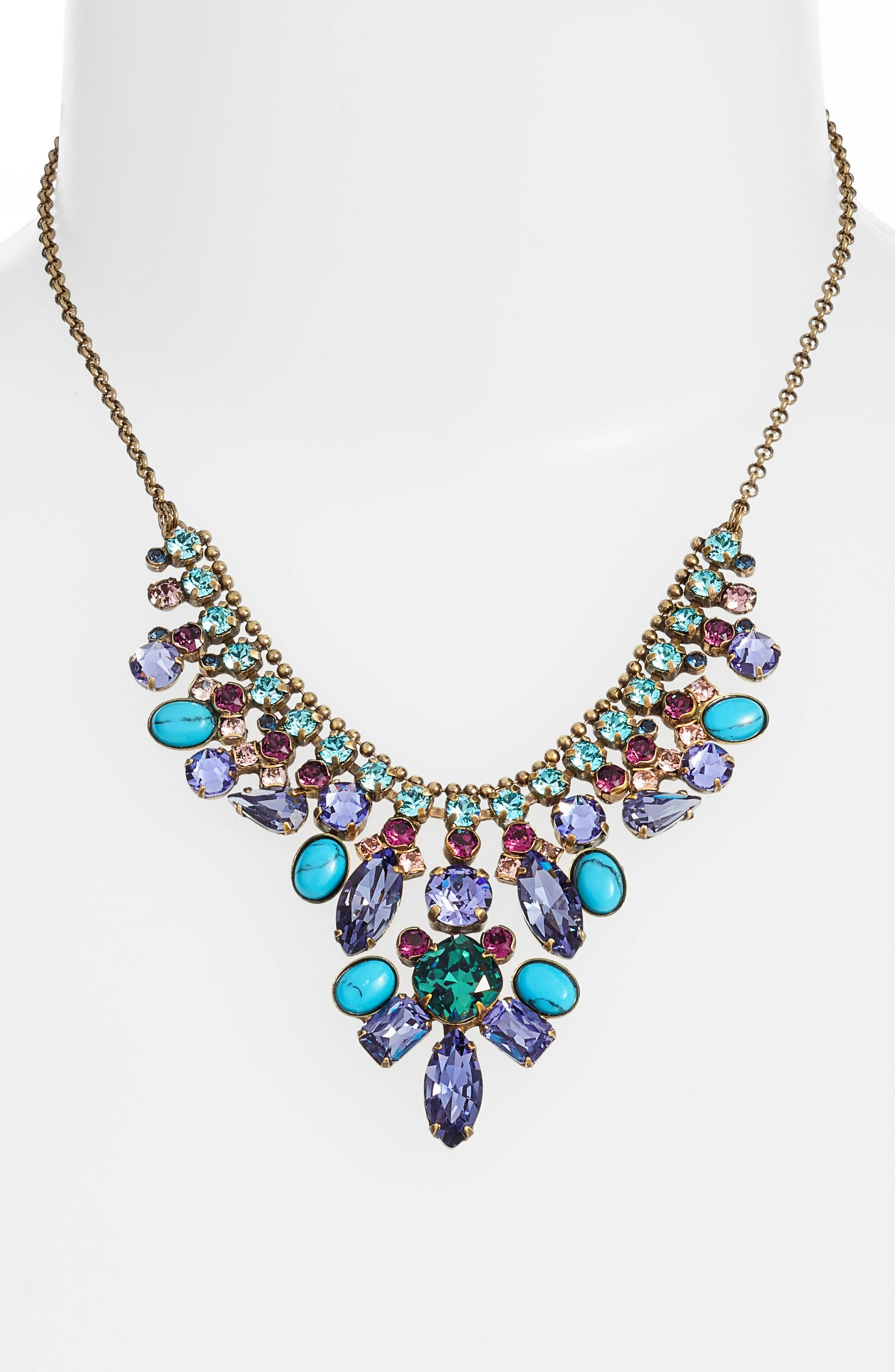 Vervain Frontal Necklace,                             Alternate thumbnail 2, color,                             Multi