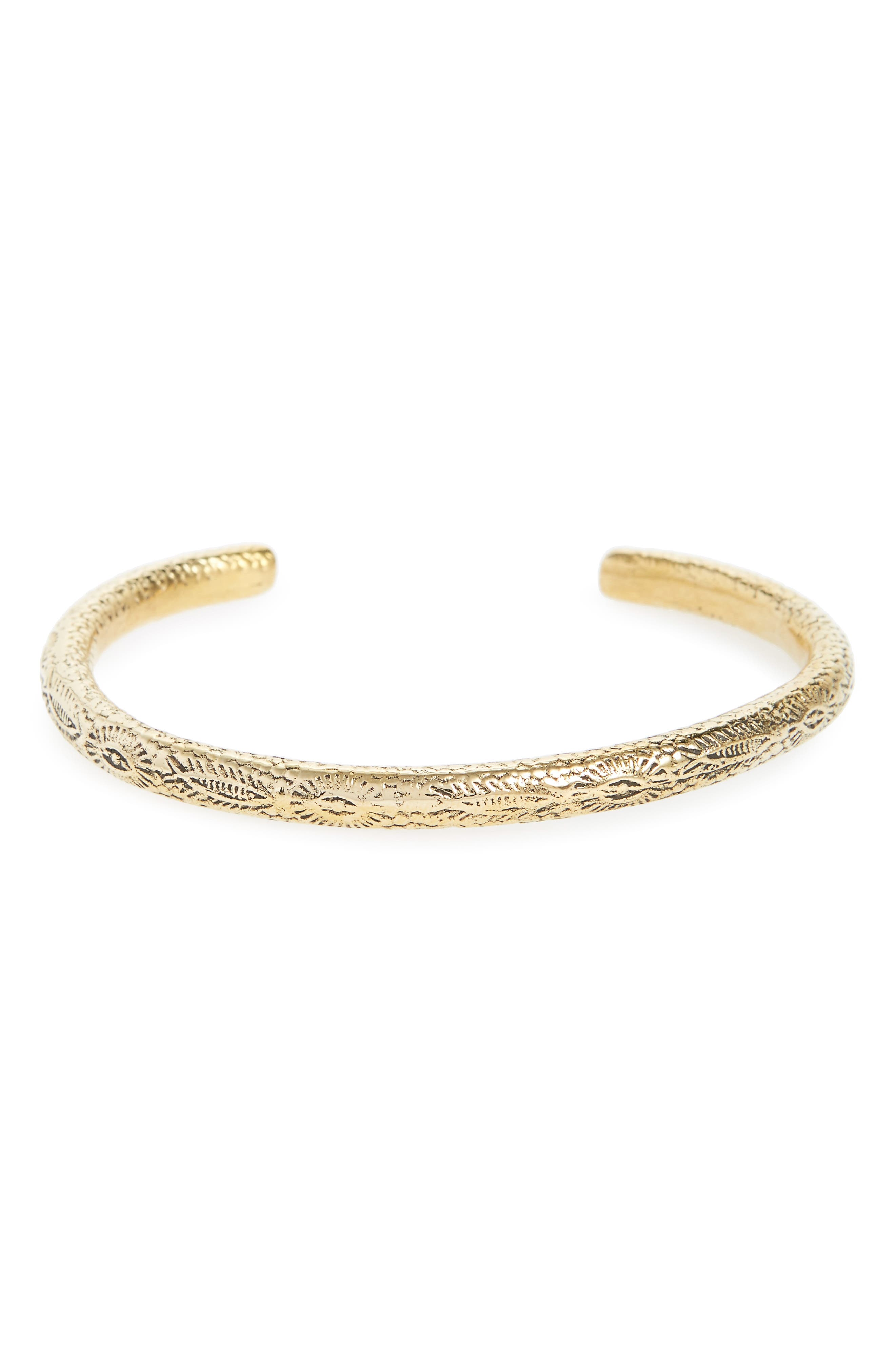 Caputo & Co. Third Eye Brass Cuff Bracelet
