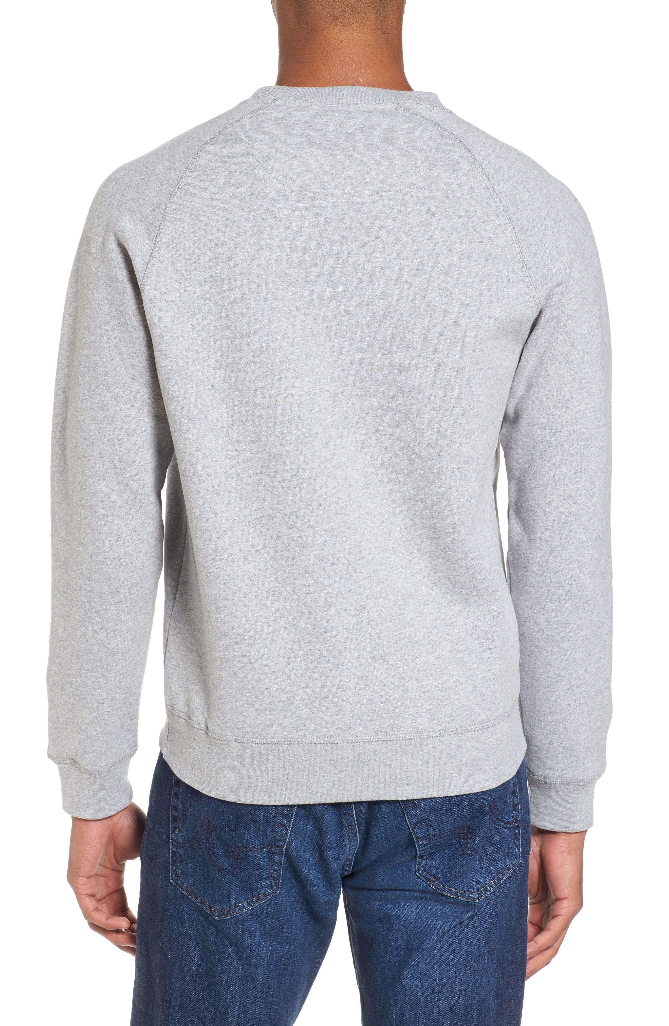 Logo Graphic Essential Sweatshirt,                             Alternate thumbnail 2, color,                             Grey Marl