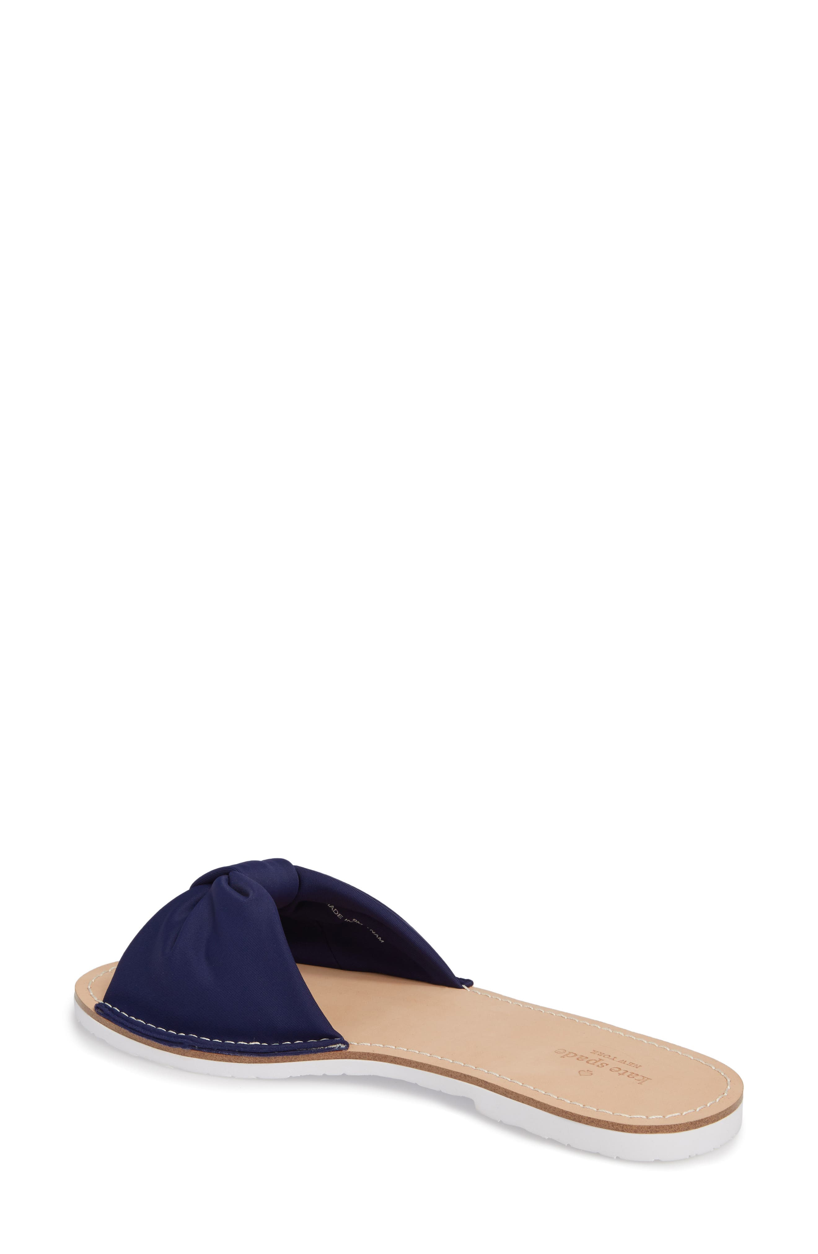 indi slide sandal,                             Alternate thumbnail 2, color,                             Blue