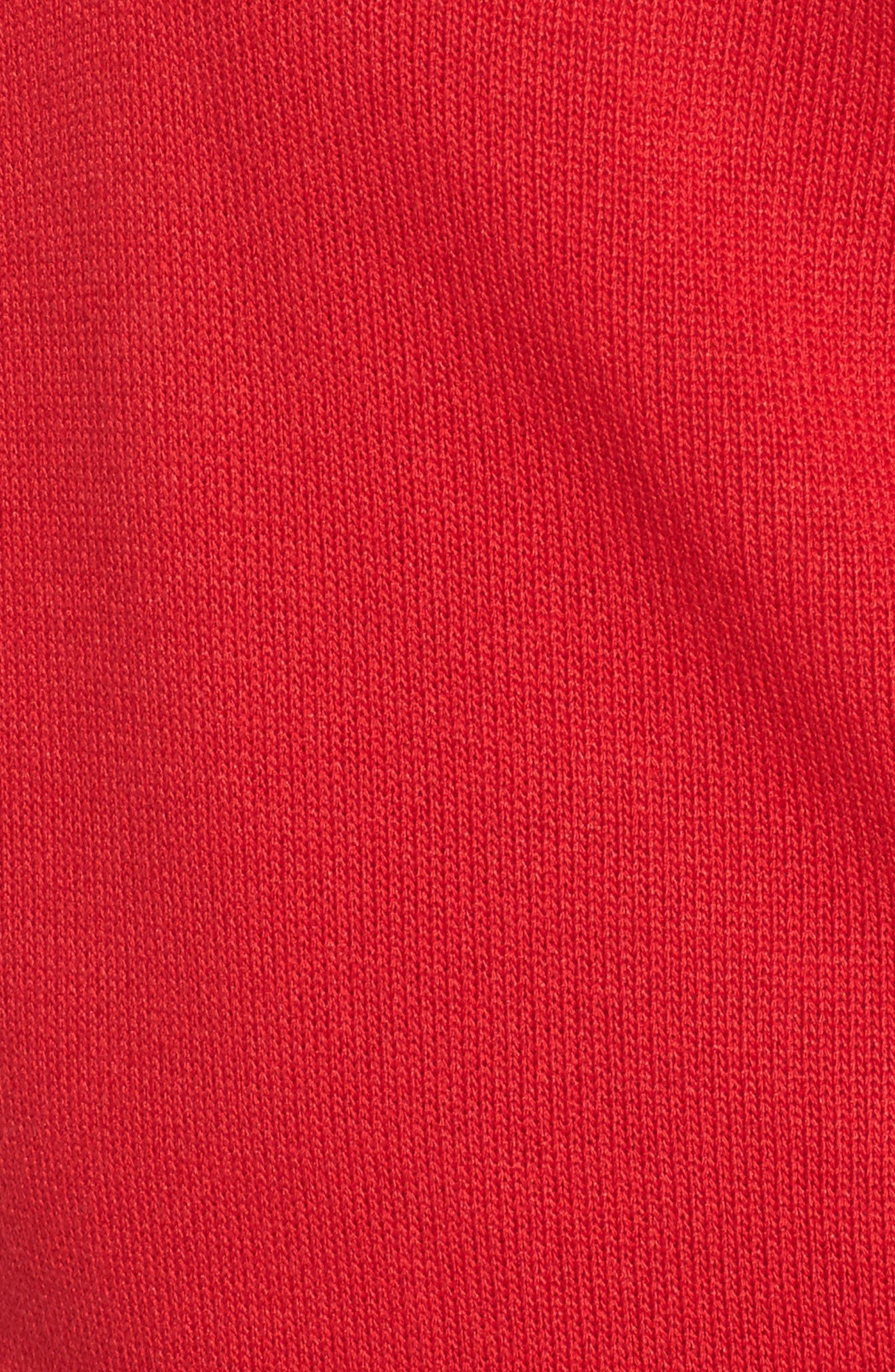 Stripe Sweater,                             Alternate thumbnail 5, color,                             Red/ Black/ White