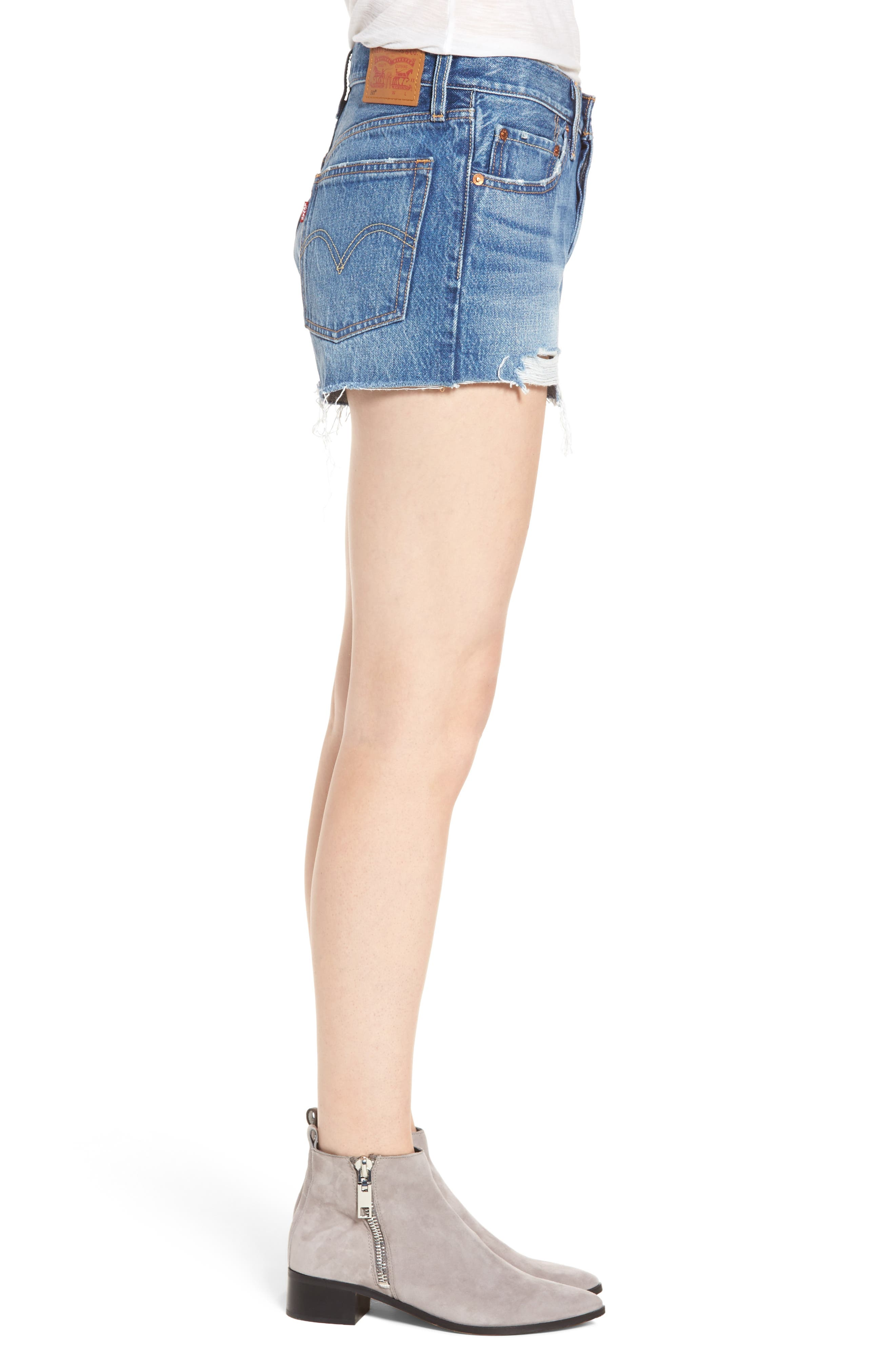 501<sup>®</sup> Cutoff Denim Shorts,                             Alternate thumbnail 3, color,                             Back To Your Heart