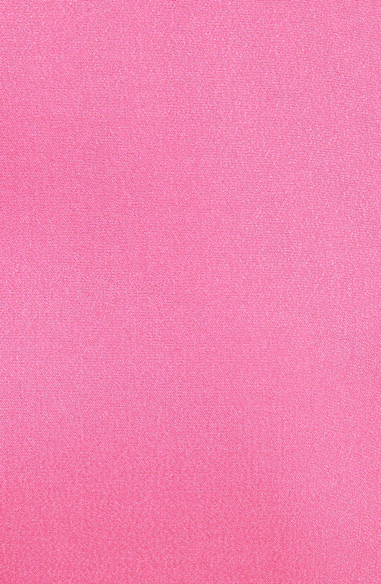 Silk Blend Sheath Dress,                             Alternate thumbnail 6, color,                             Carnation