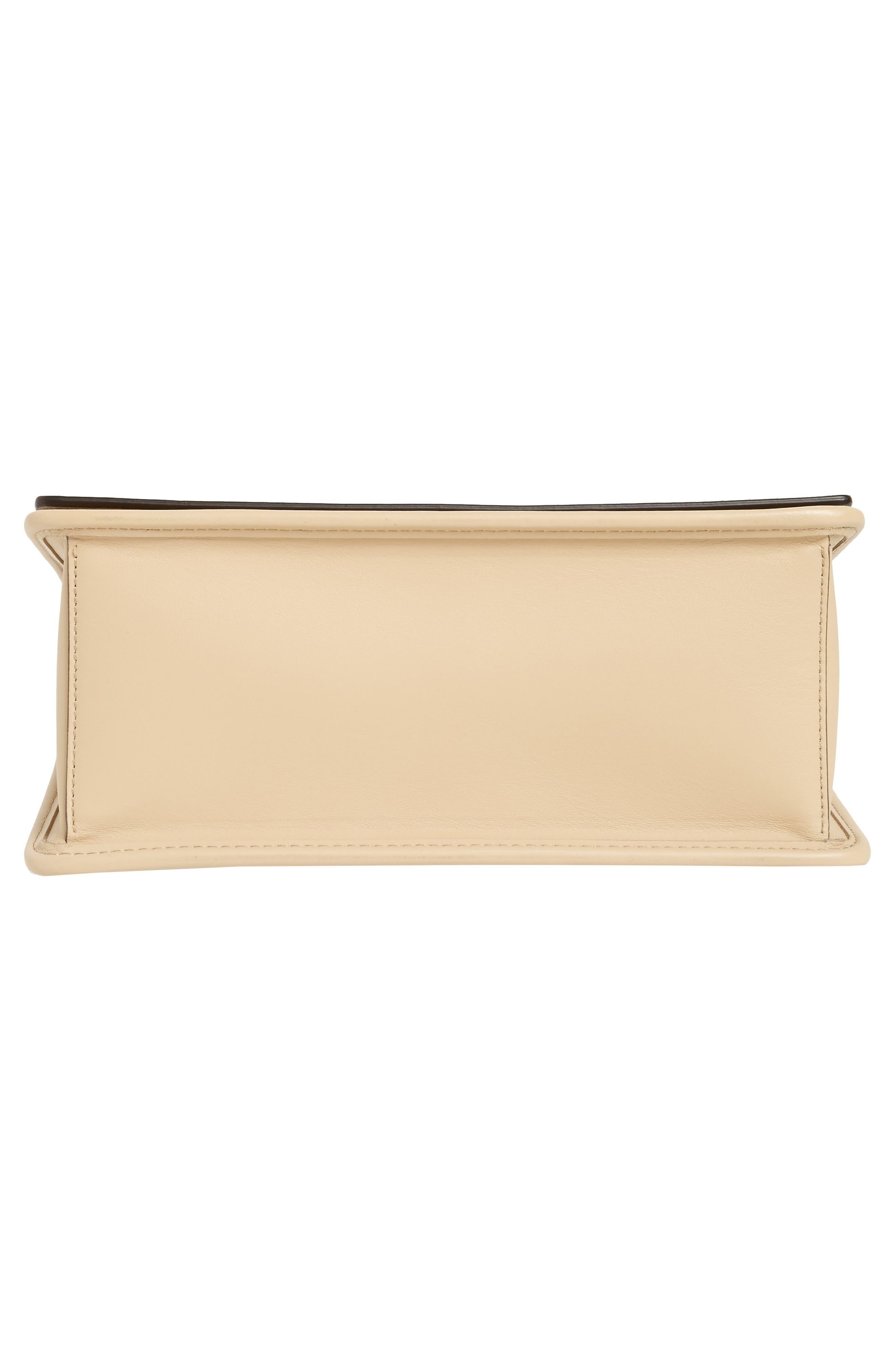 Kan I Calfskin Leather Shoulder Bag,                             Alternate thumbnail 6, color,                             Beige