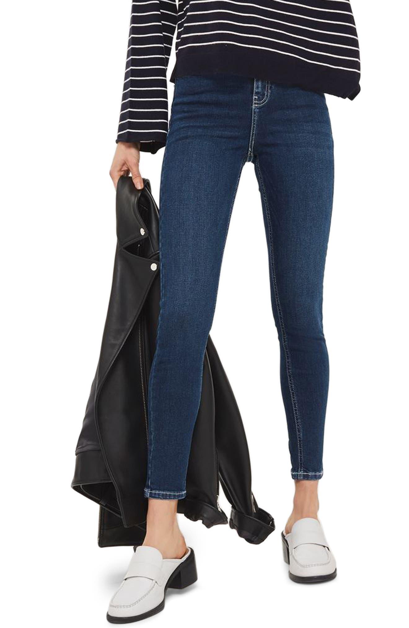 Topshop Jamie Contrast Stitch Skinny Jeans