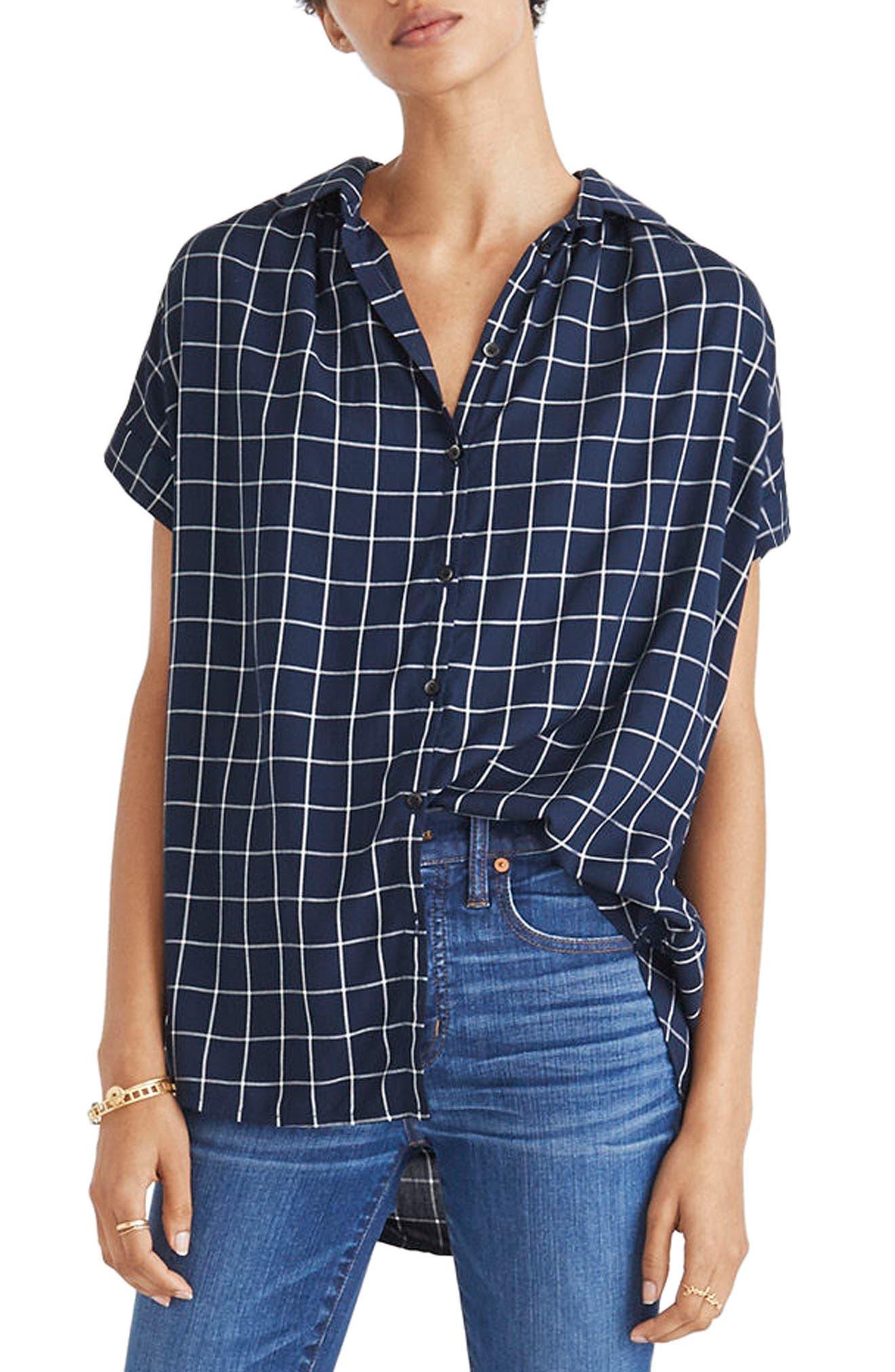 Main Image - Madewell Central Windowpane Check Shirt