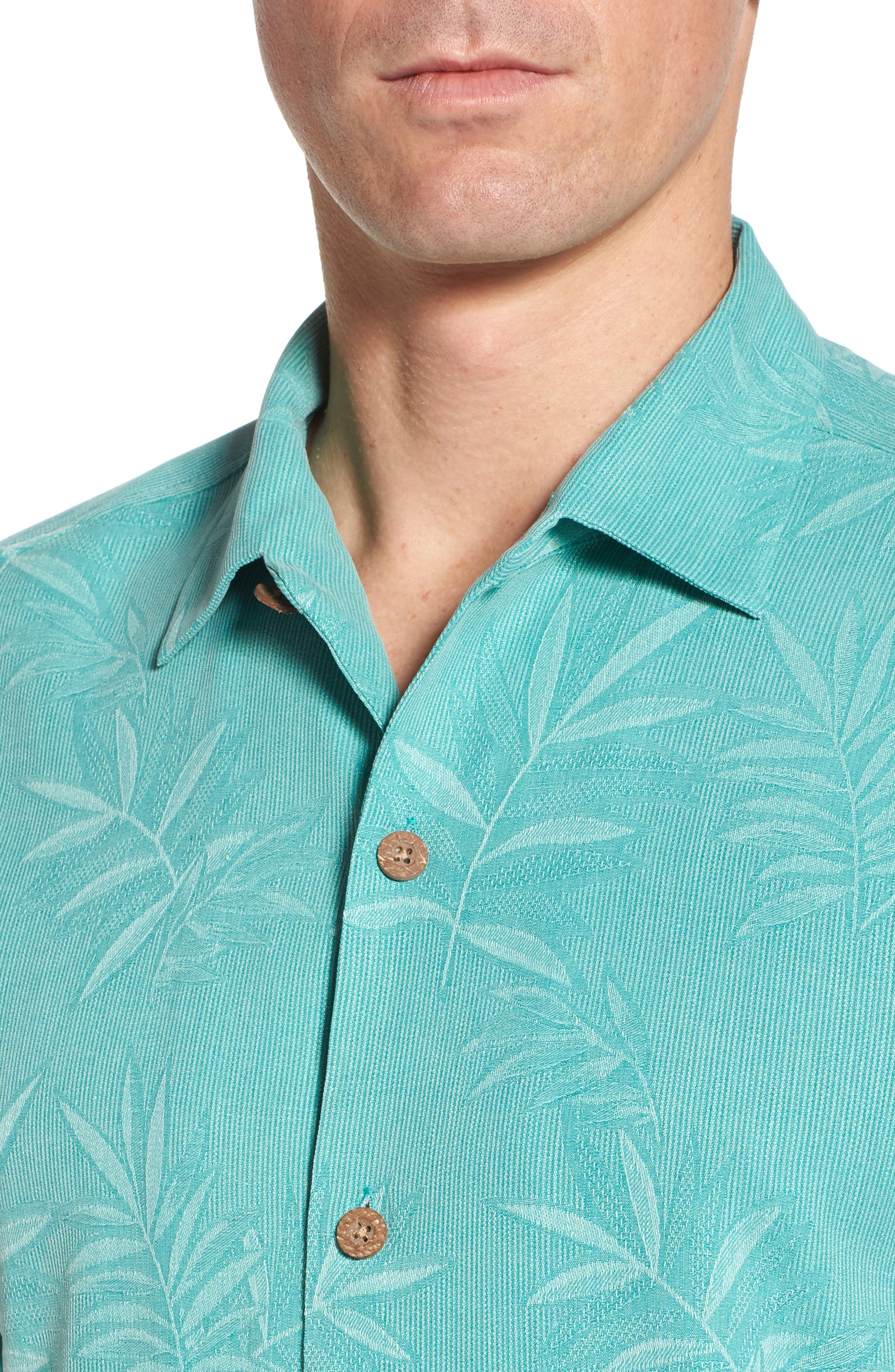 Alternate Image 4  - Tommy Bahama Luau Floral Silk Shirt