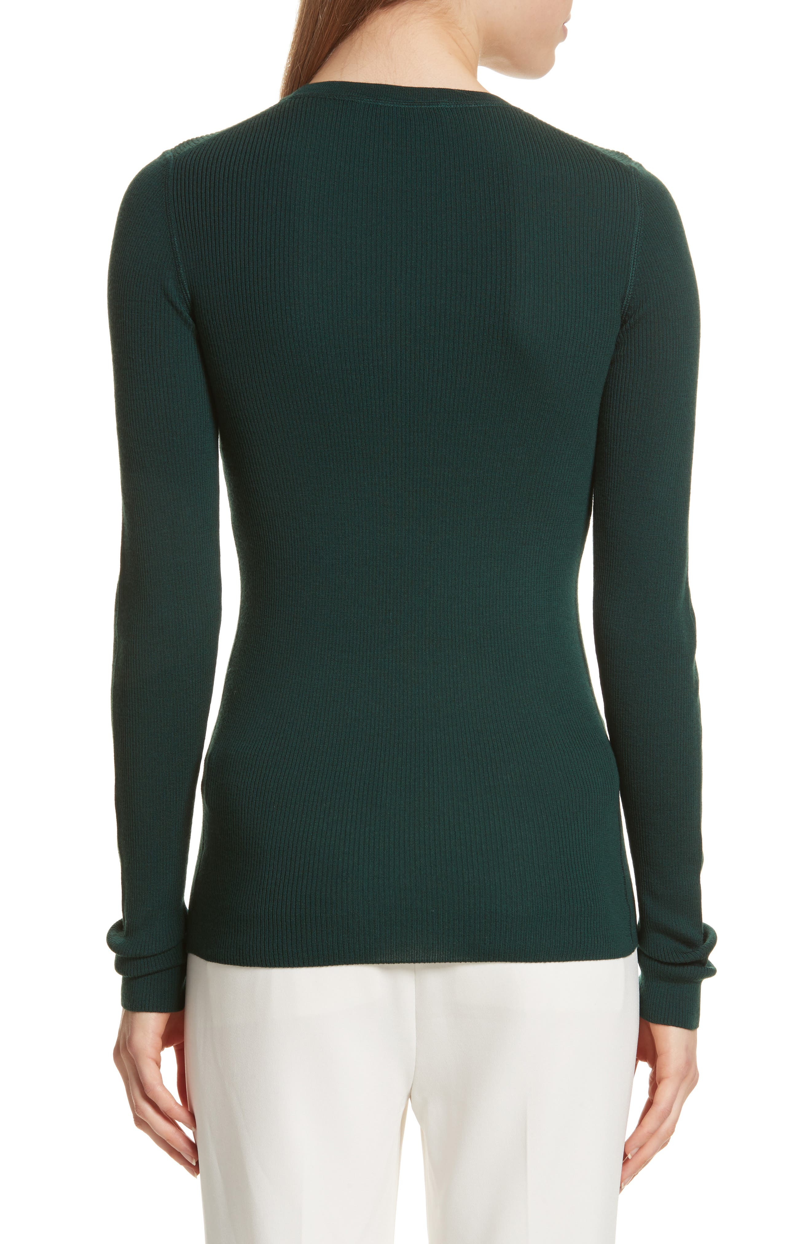 Alternate Image 2  - Theory Mirzi Ribbed Sweater