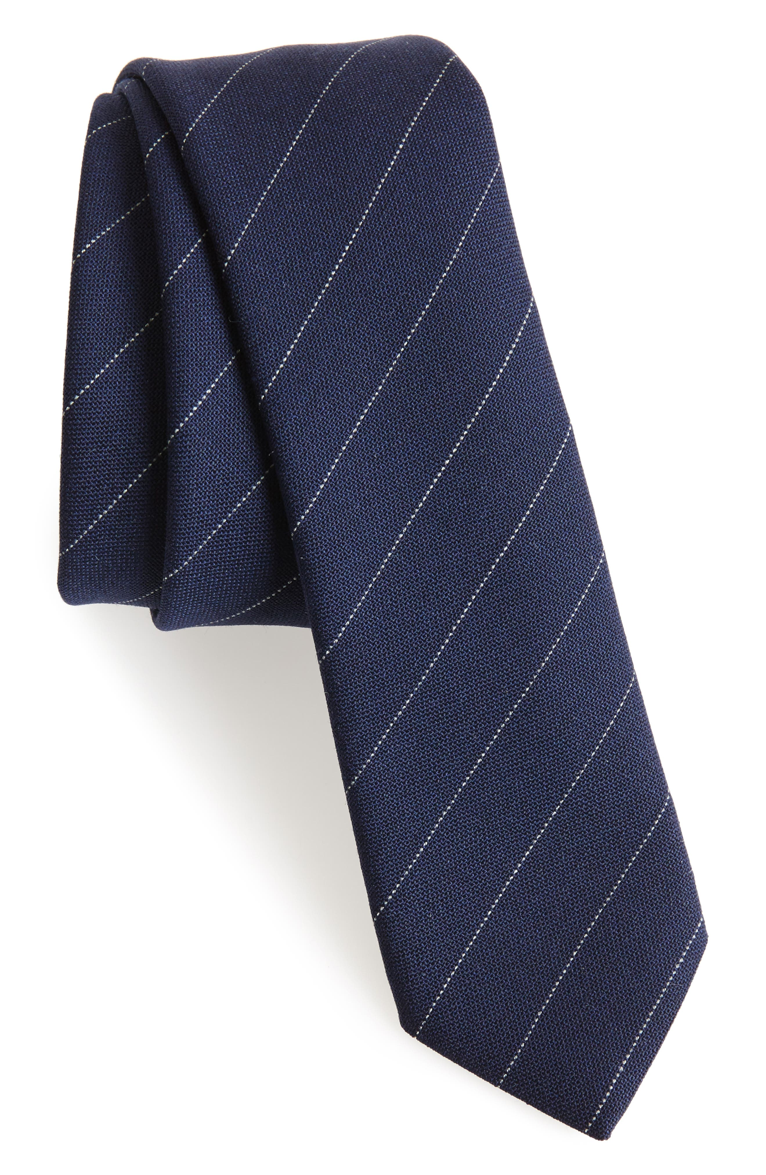 Alternate Image 1 Selected - Eleventy Stripe Wool Tie