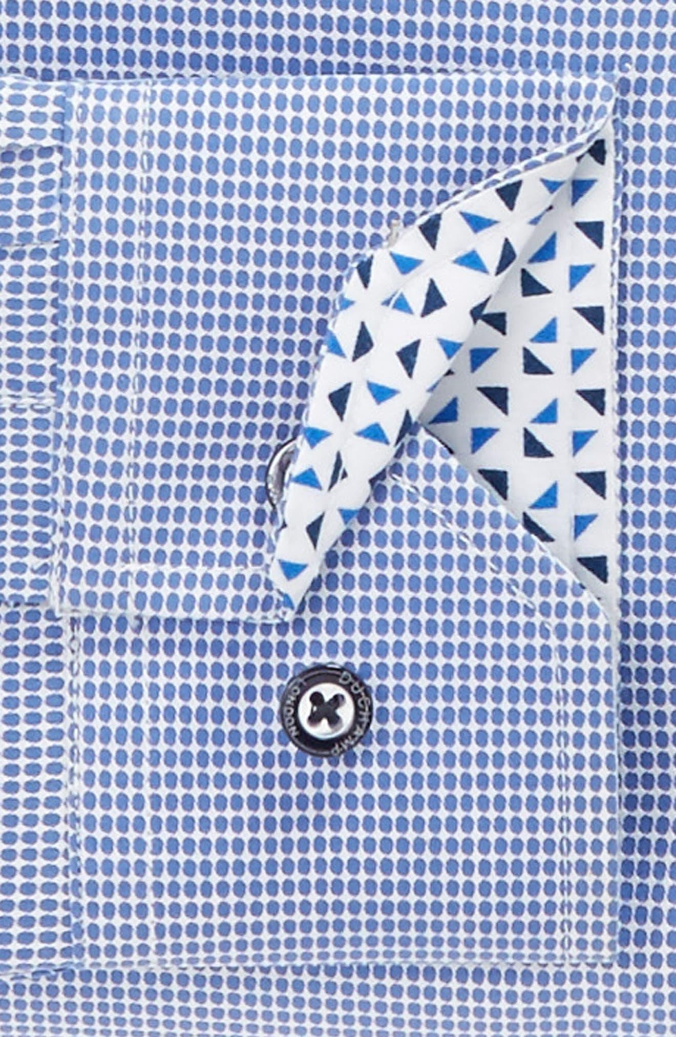 Alternate Image 3  - Duchamp Trim Fit Dot Dress Shirt