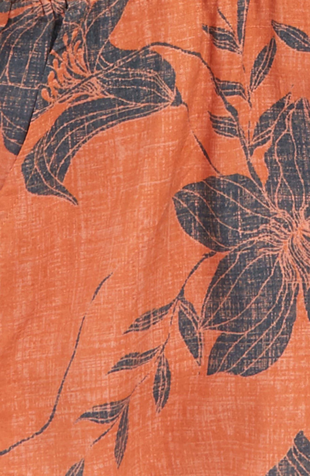 Joanie Wrap Front Romper,                             Alternate thumbnail 2, color,                             Terracotta