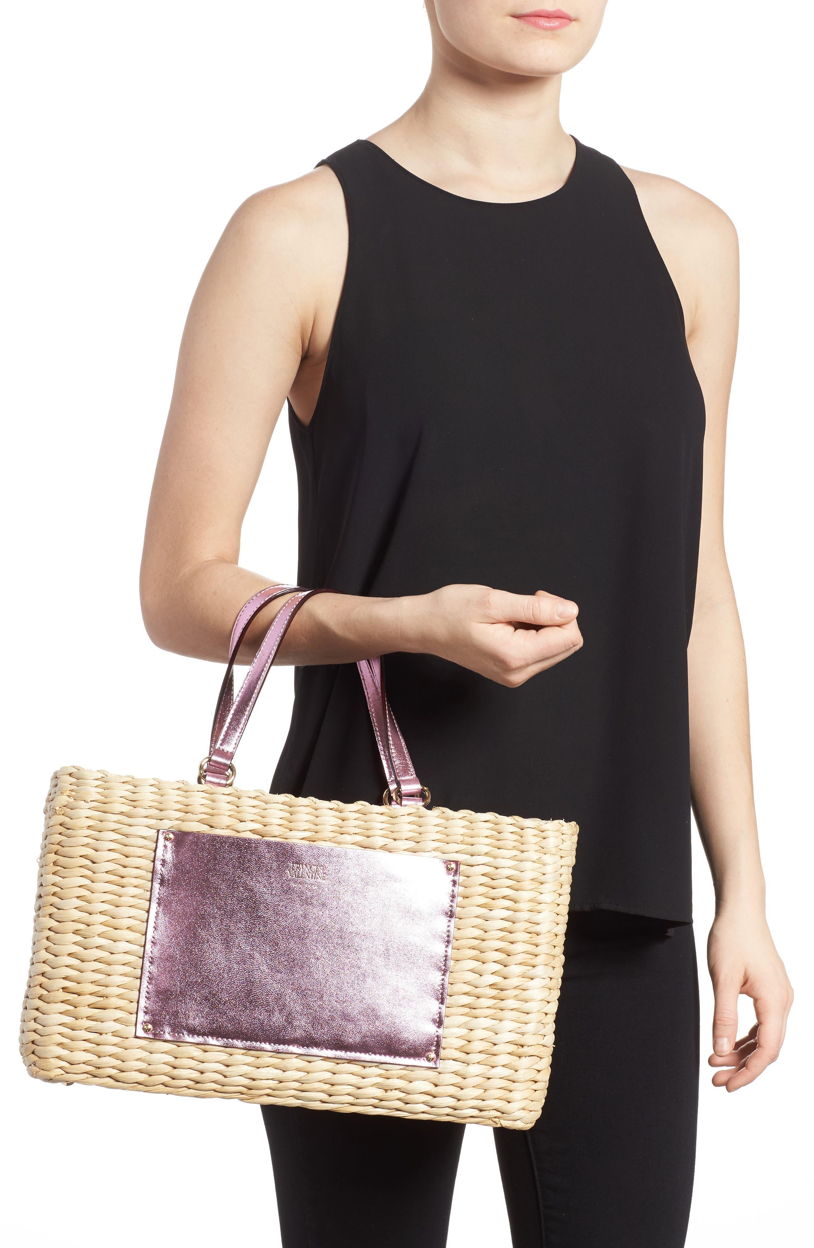 Alternate Image 2  - Frances Valentine Medium Straw Shopper