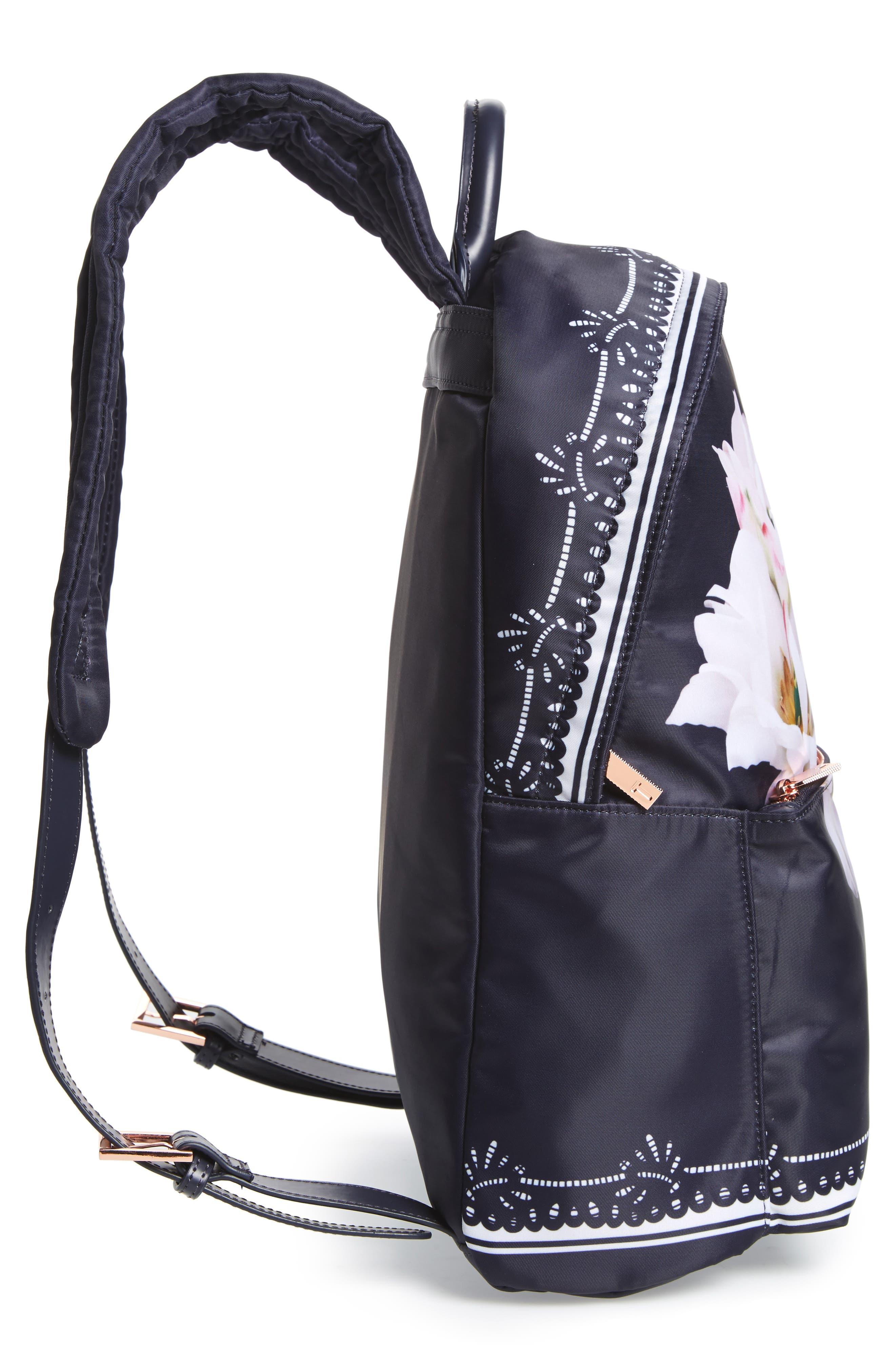 Kayleey Gardenia Backpack,                             Alternate thumbnail 5, color,                             Dark Blue