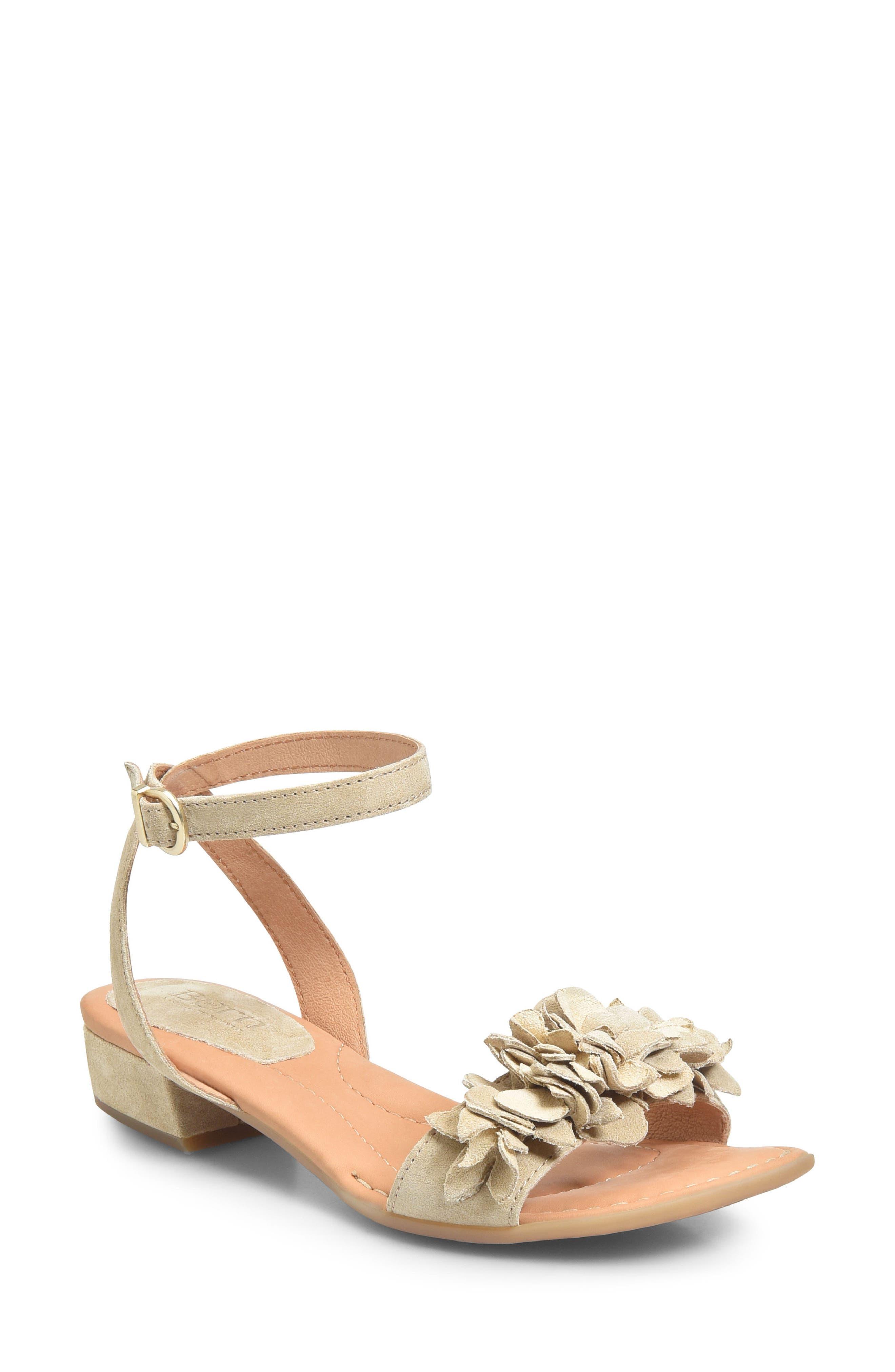 Bouvet Sandal,                         Main,                         color, Cream Suede
