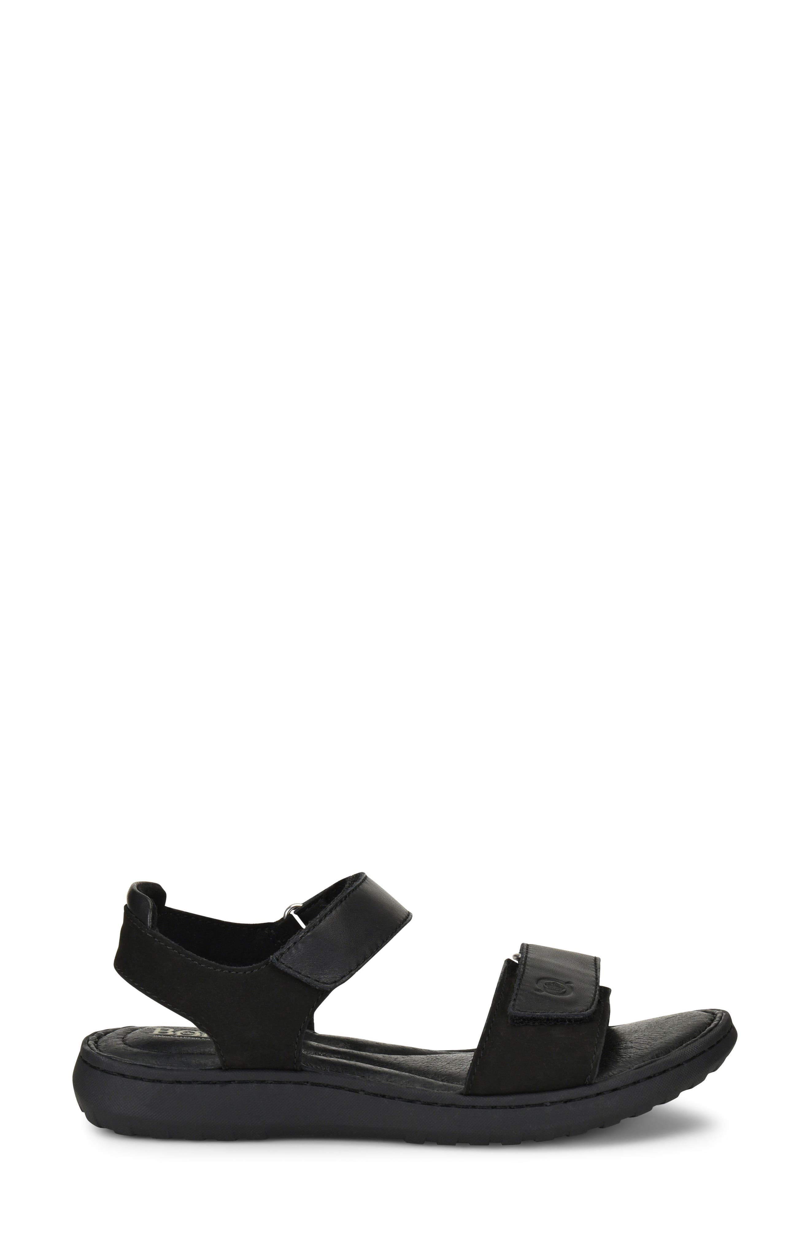 Nirvana Sandal,                             Alternate thumbnail 3, color,                             Black Leather