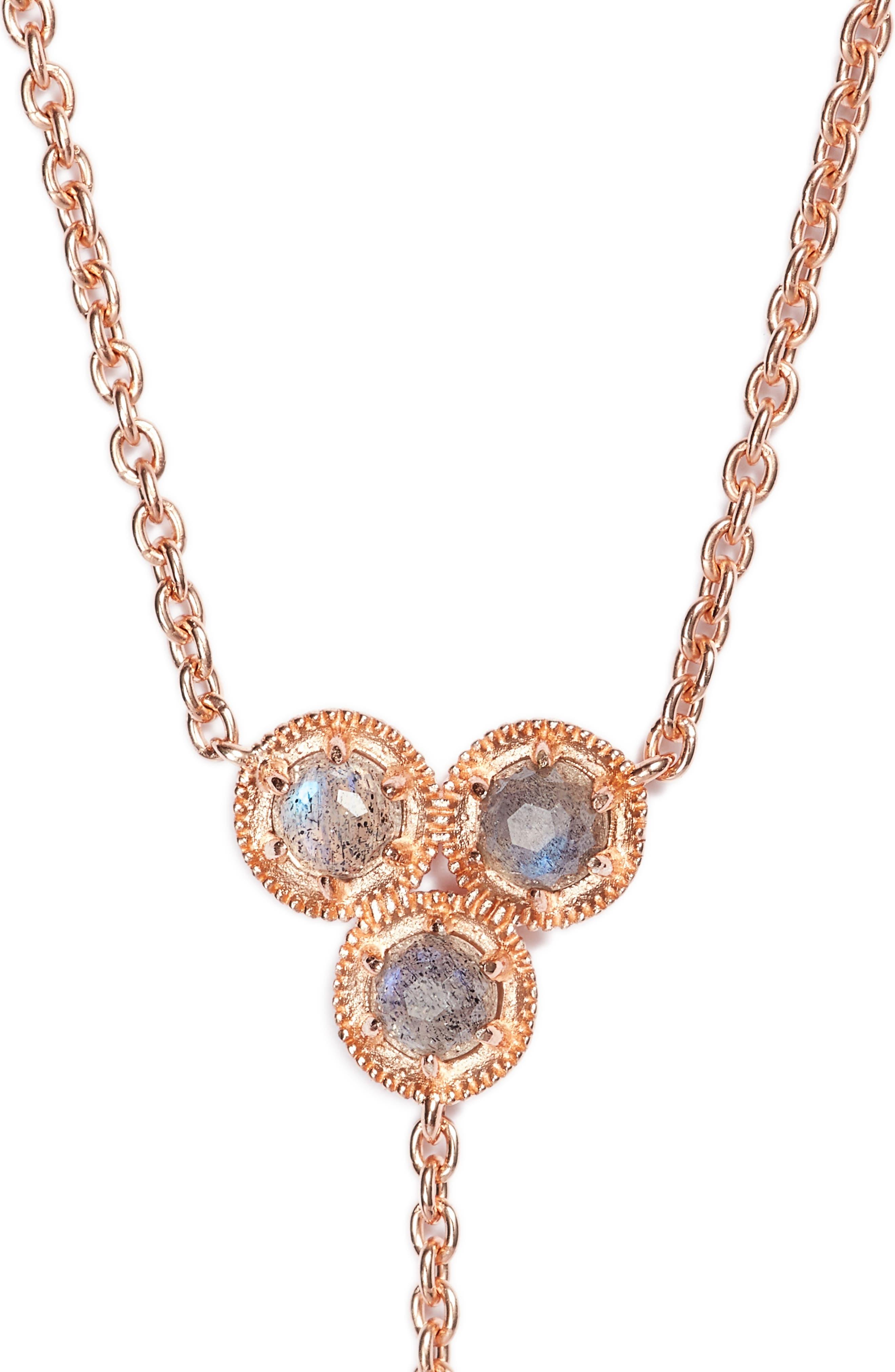 Alternate Image 2  - Nadri Cleo Semiprecious Stone Necklace