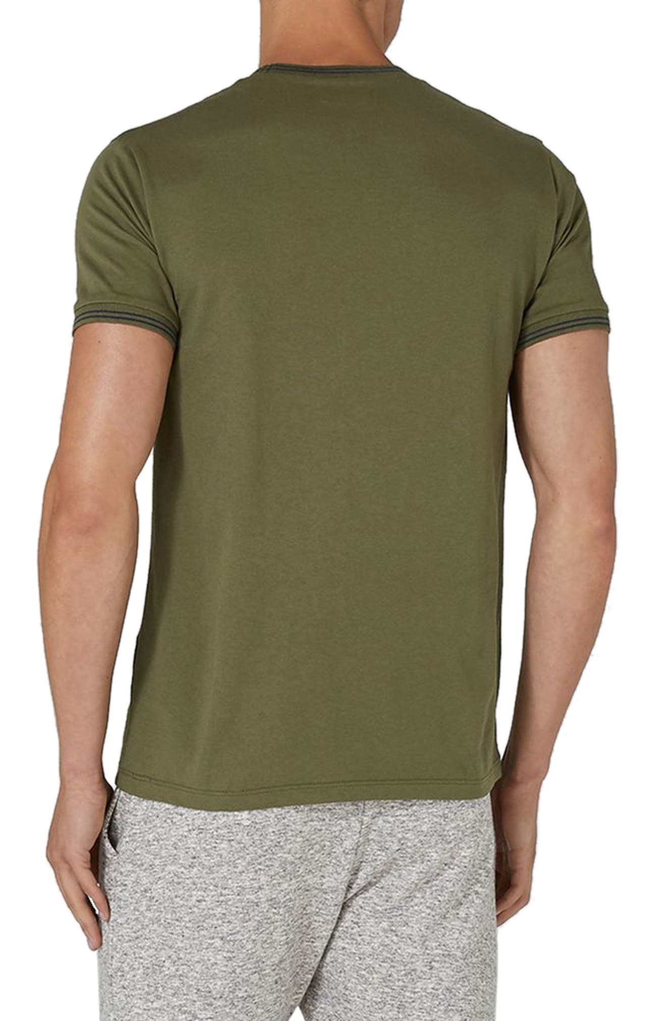 Stripe Muscle T-Shirt,                             Alternate thumbnail 2, color,                             Olive