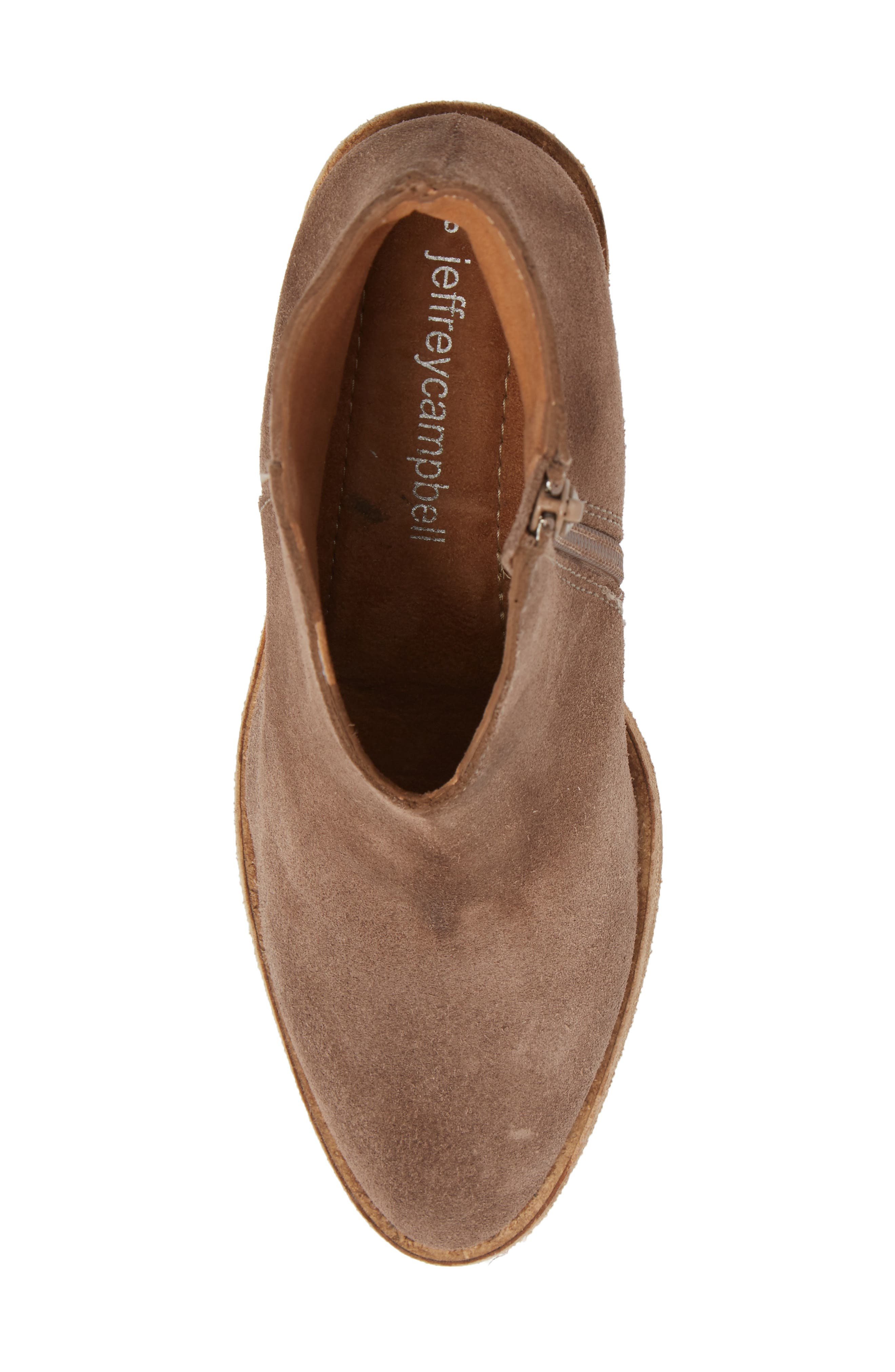 Kamet Bootie,                             Alternate thumbnail 5, color,                             Taupe Oiled Suede
