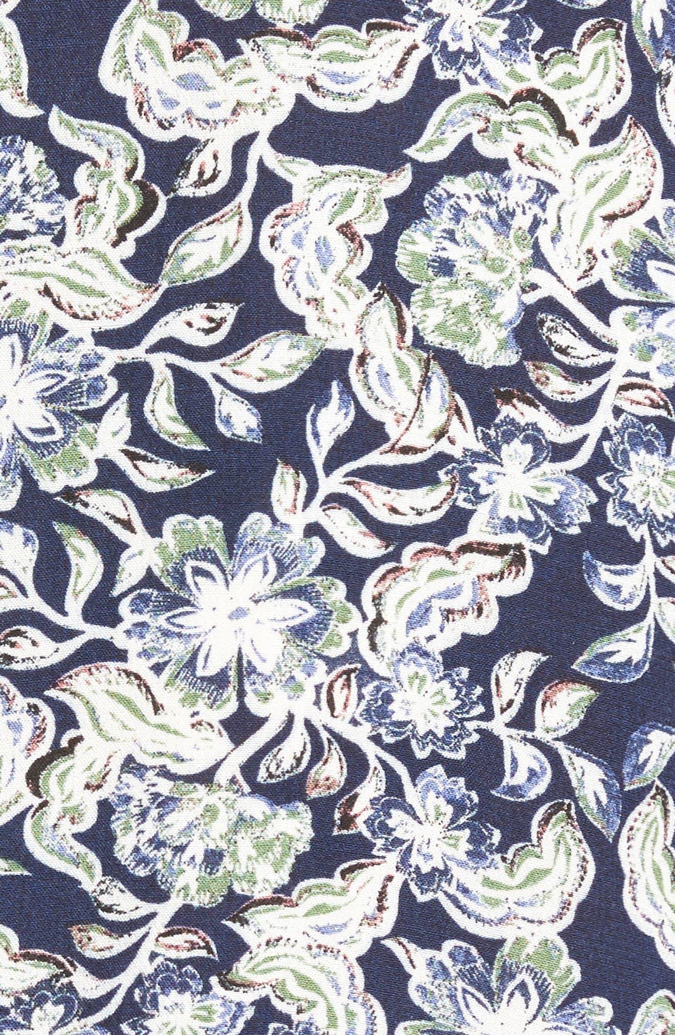 Shift Minidress,                             Alternate thumbnail 5, color,                             Navy Peacoat Snap Floral