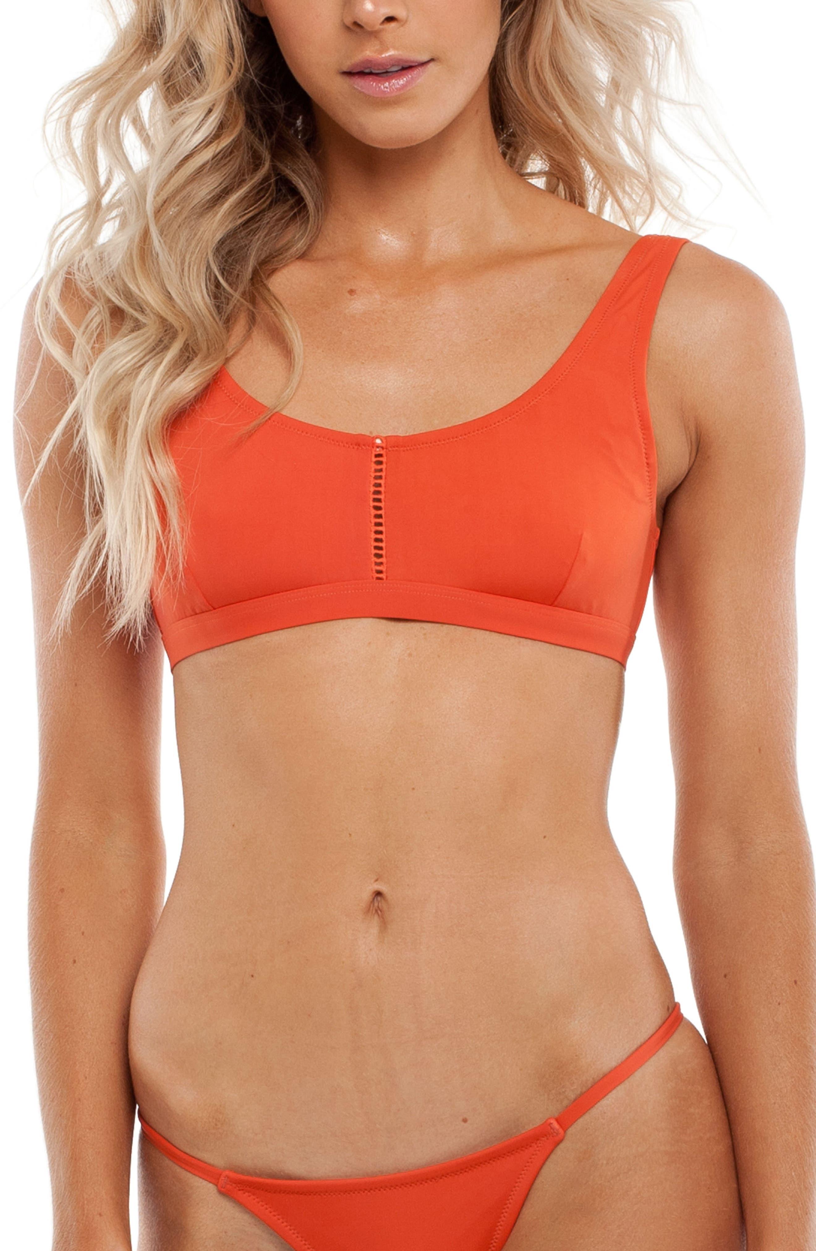 My Tank Top Bikini Top,                         Main,                         color, Tangelo