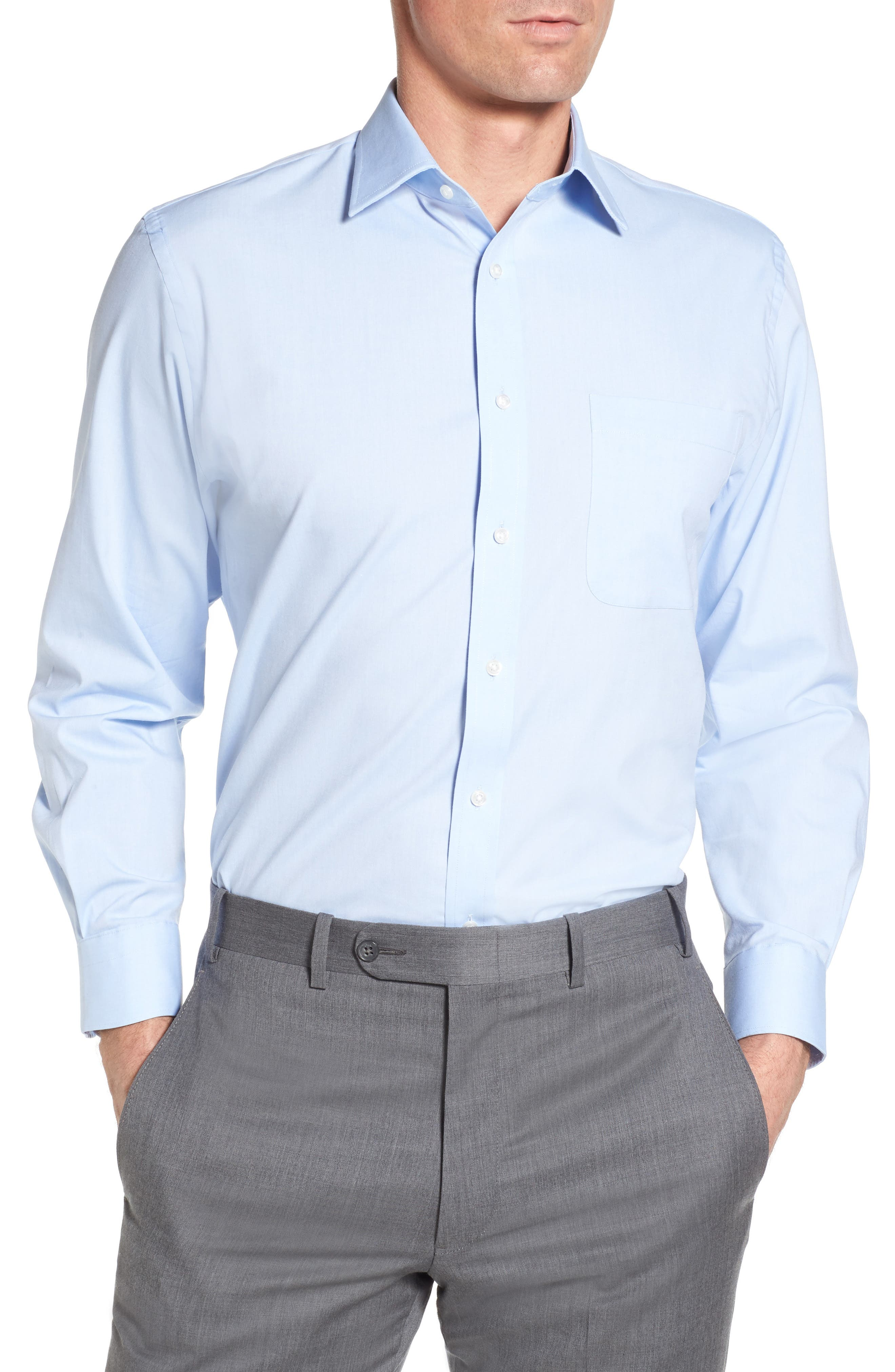 Nordstrom Menu0026#39;s Shop Tech-Smart Traditional Fit Stretch Solid Dress Shirt | Nordstrom