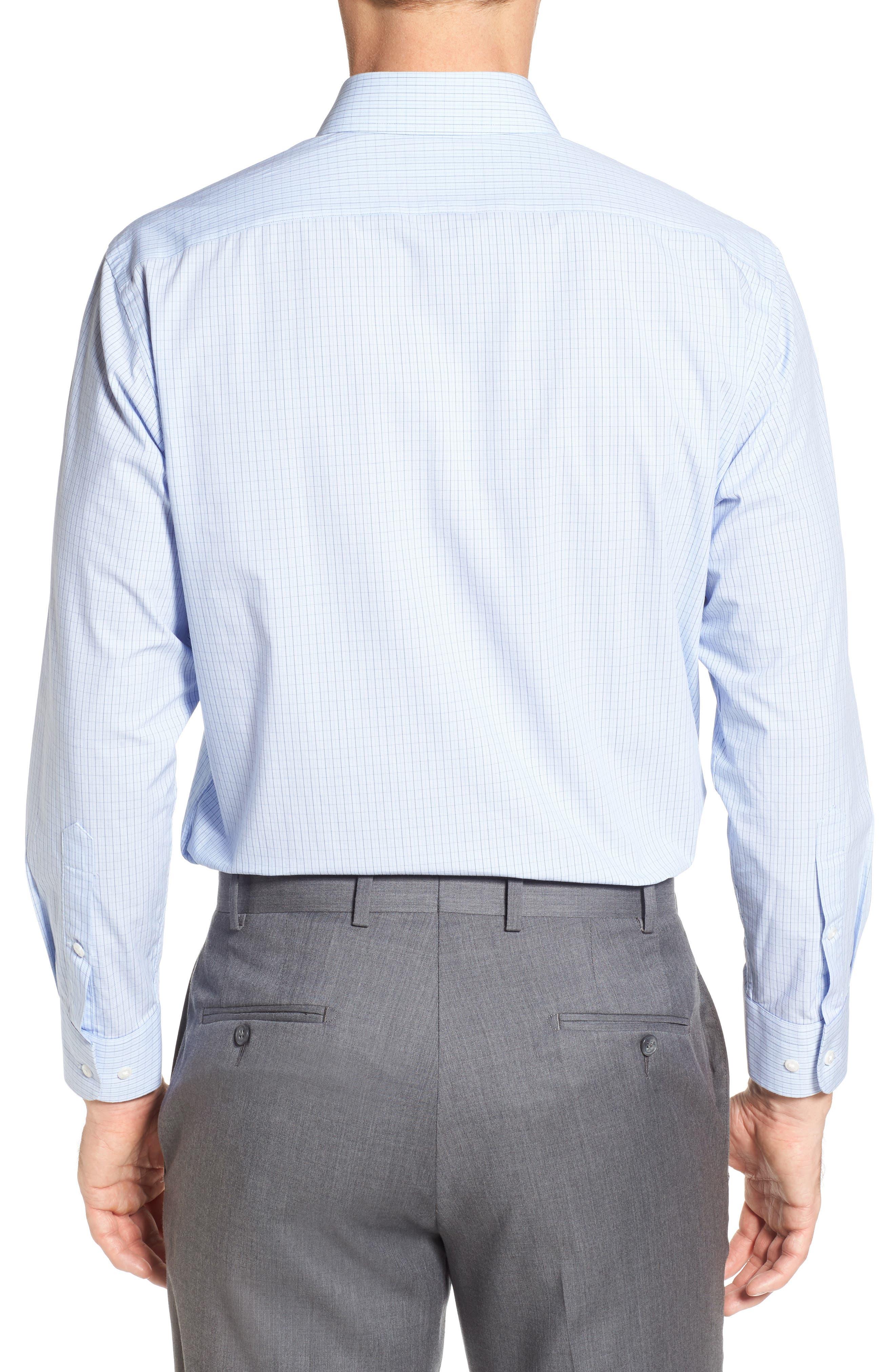 Alternate Image 2  - Nordstrom Men's Shop Tech-Smart Traditional Fit Check Dress Shirt