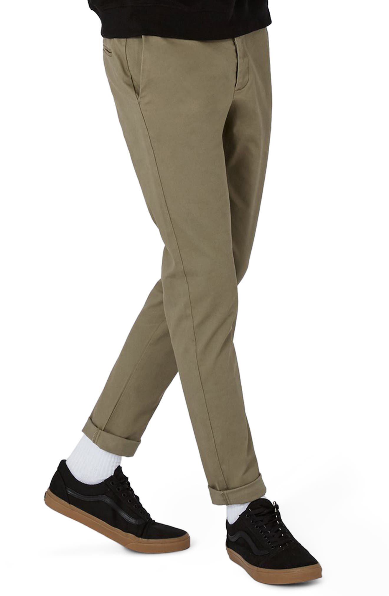 Stretch Skinny Fit Chinos,                         Main,                         color, Khaki