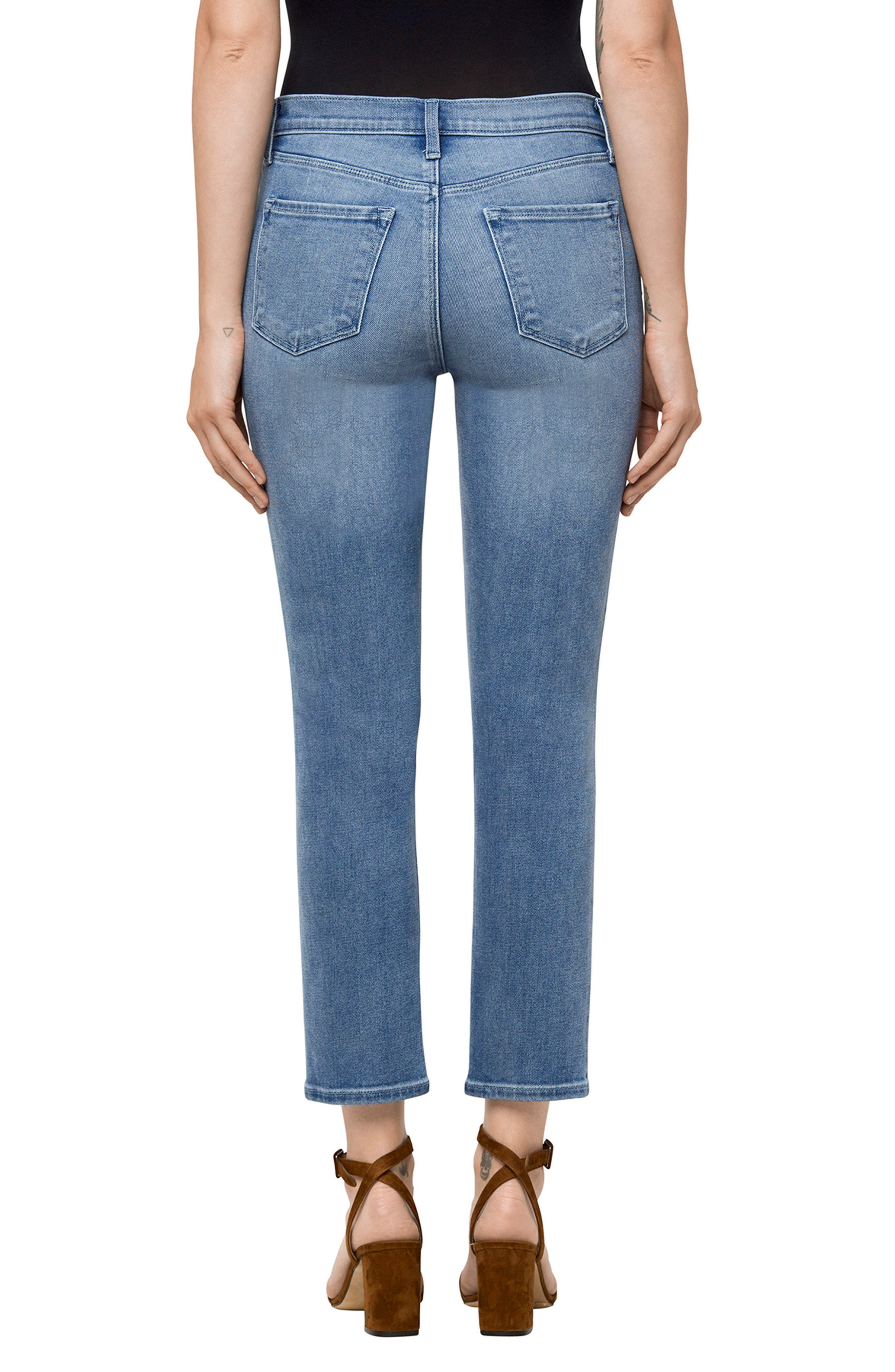 Alternate Image 2  - J Brand Ruby High Waist Crop Jeans (Utopia)