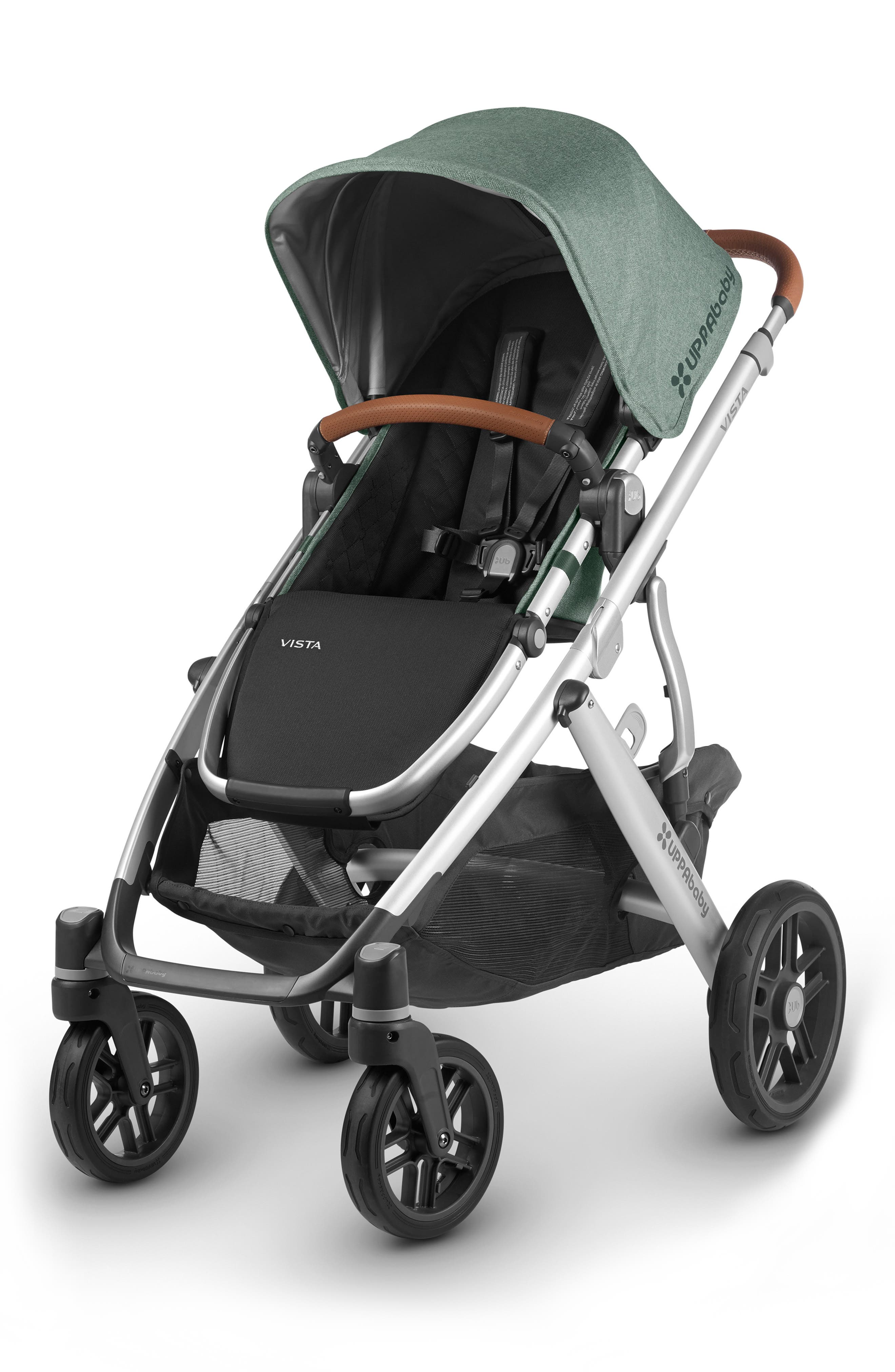Alternate Image 1 Selected - UPPAbaby 2018 VISTA Aluminum Frame Convertible Complete Stroller with Leather Trim