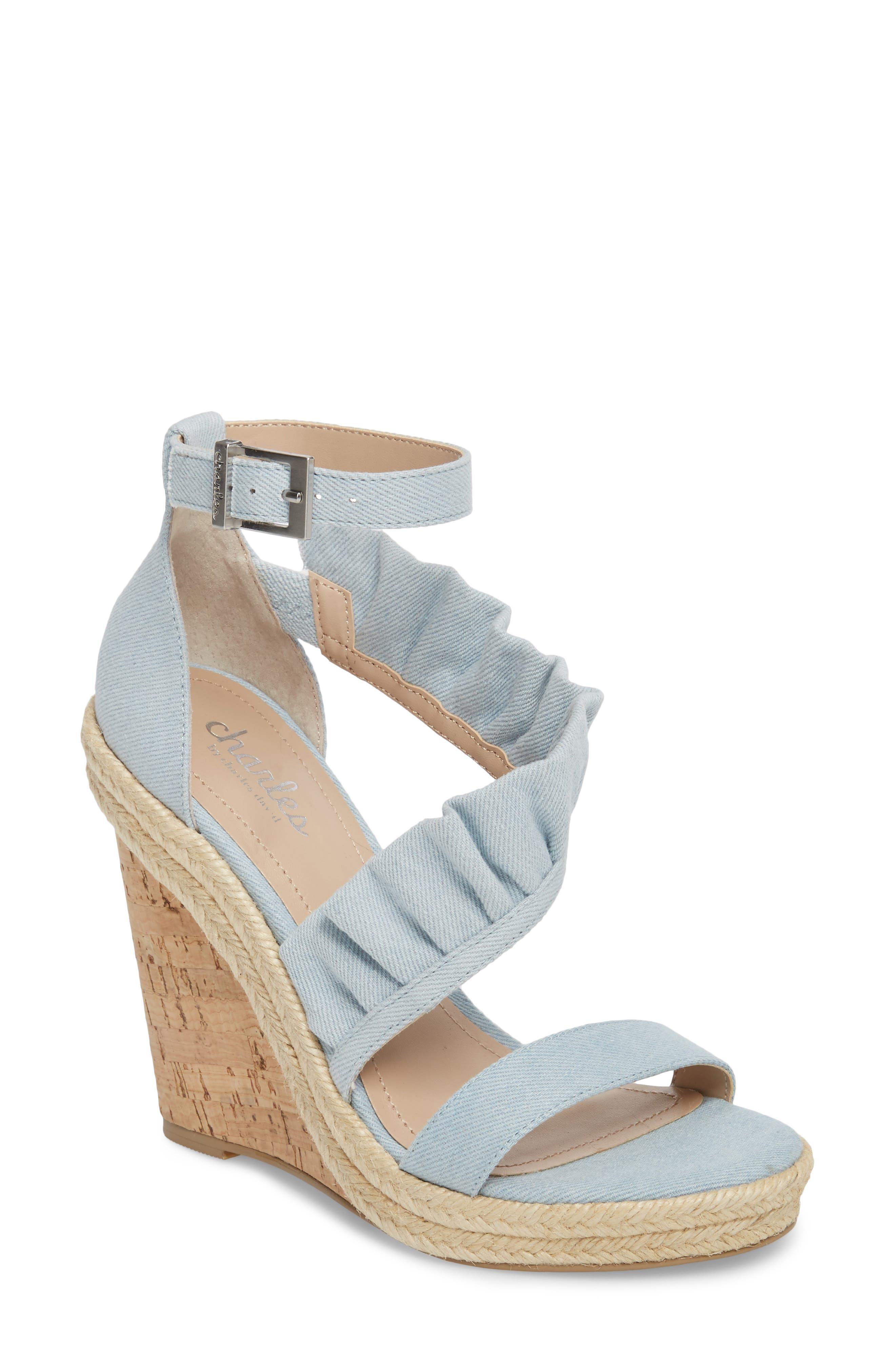 Brooke Espadrille Wedge Sandal,                         Main,                         color, Light Blue Denim