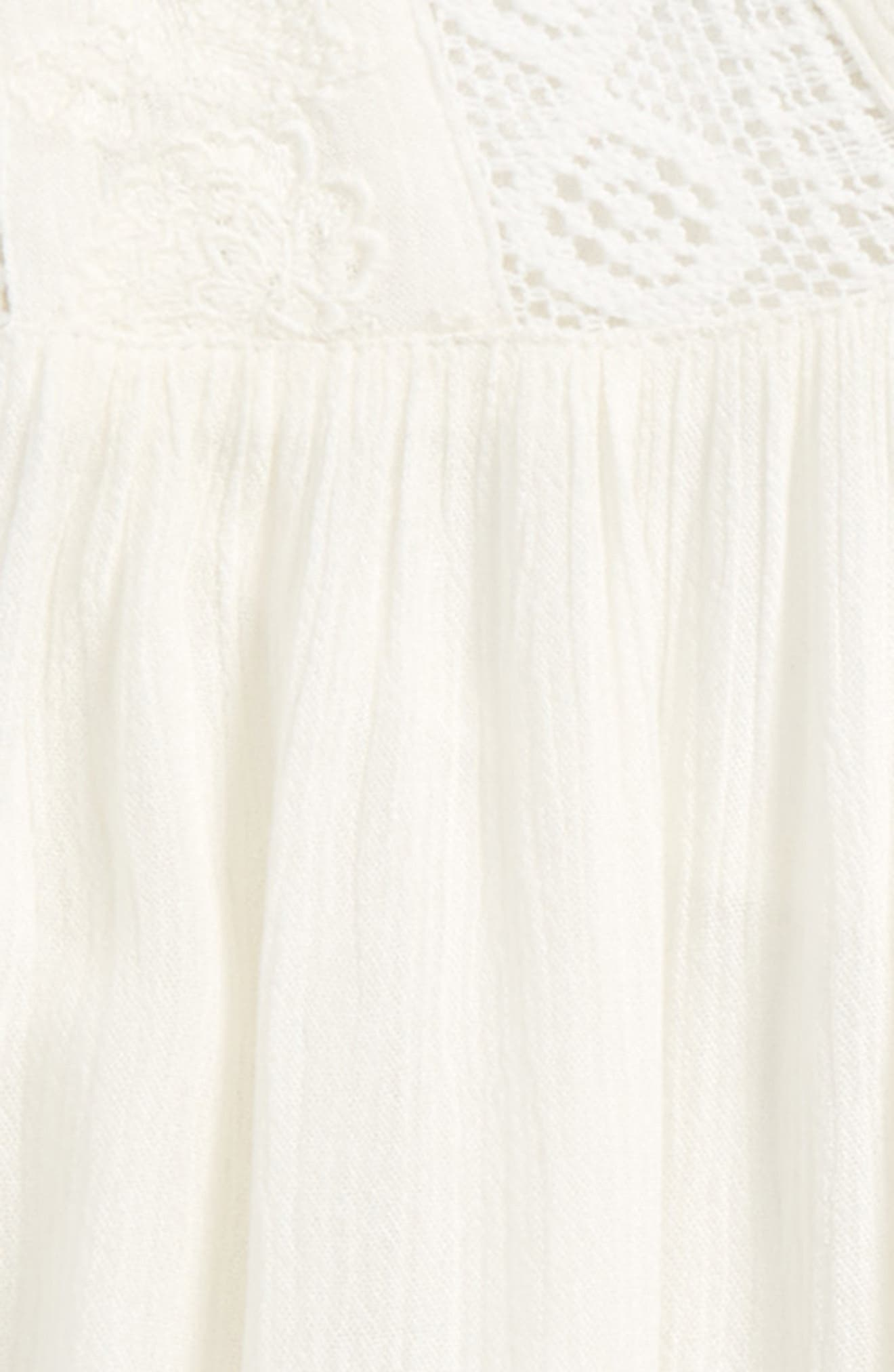 Alternate Image 2  - O'Neill Marion Embroidered Peasant Top (Big Girls)