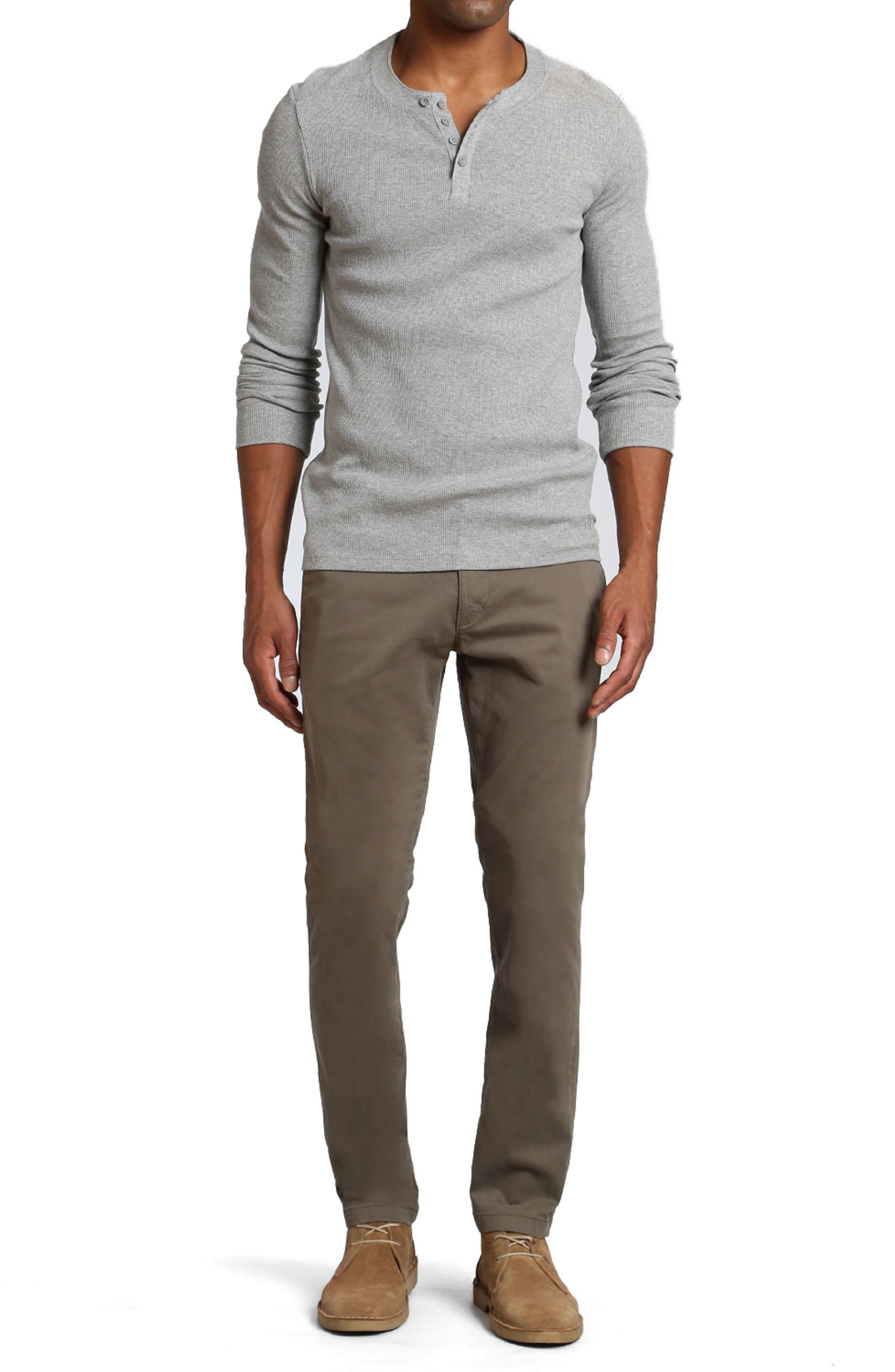 Johnny Twill Pants,                             Alternate thumbnail 4, color,                             Dusty Olive Twill