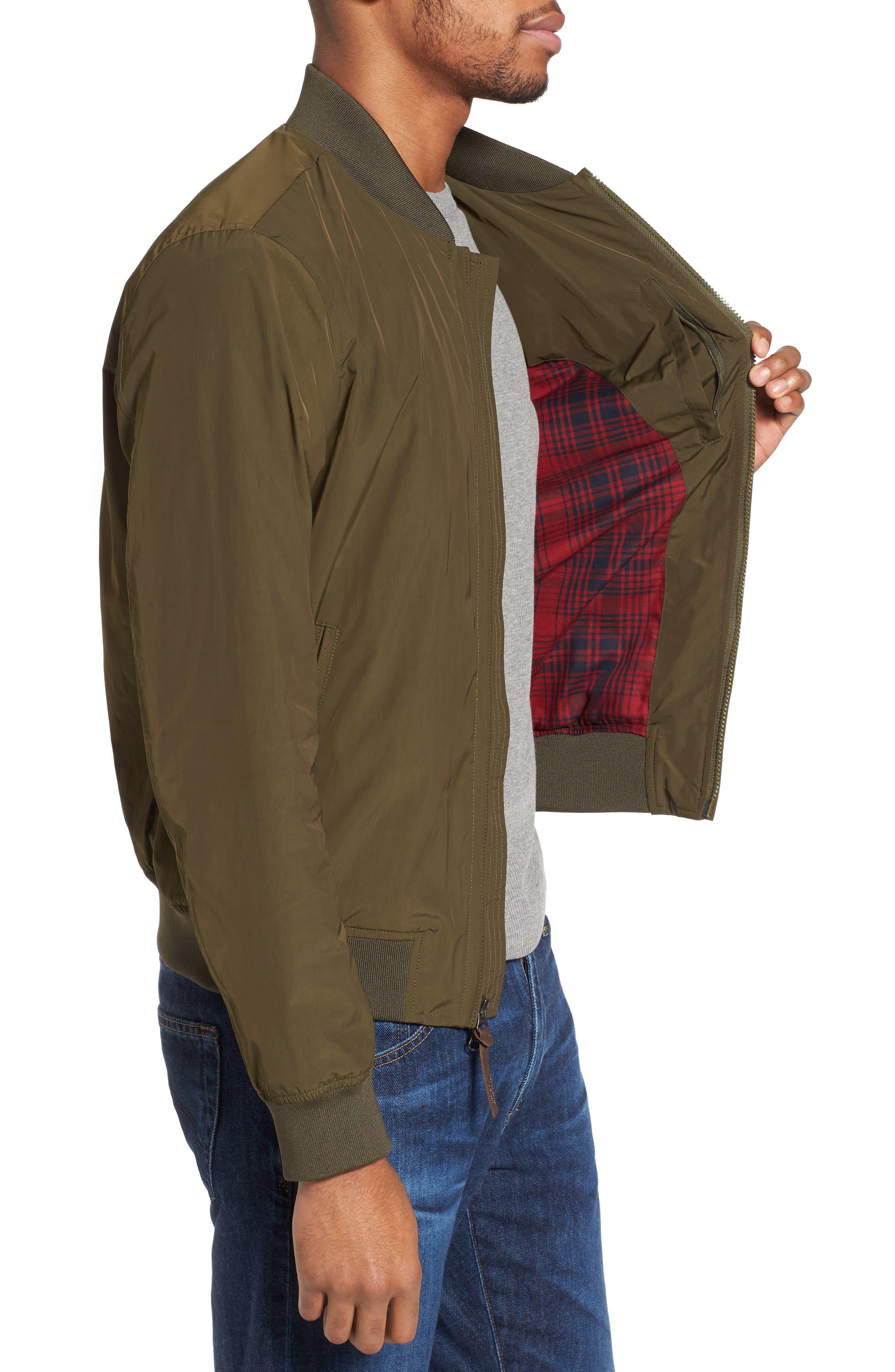 Shore Bomber Jacket,                             Alternate thumbnail 3, color,                             Tenkara Green