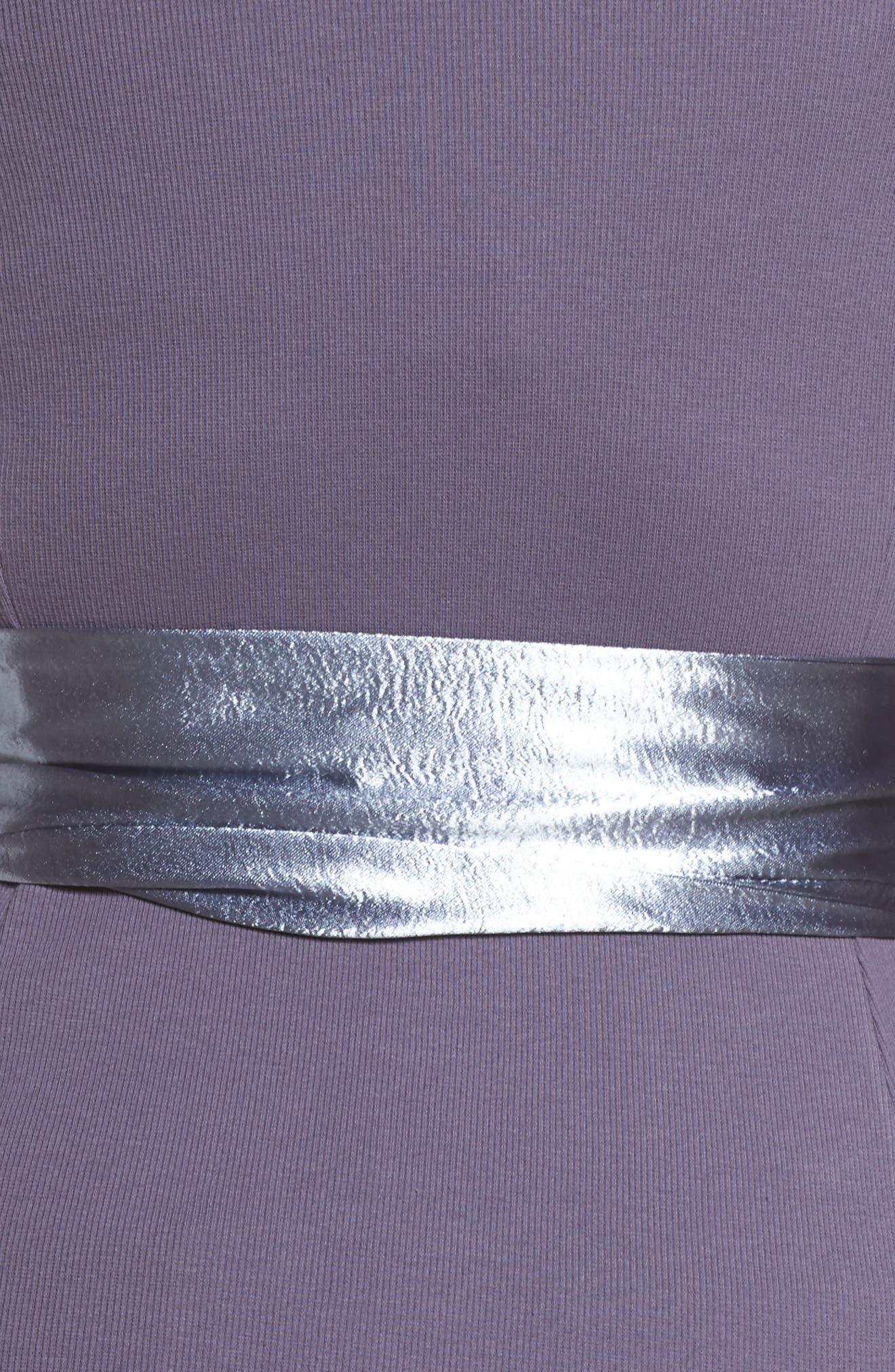 Alternate Image 5  - LOST INK Satin Sash Knit Top (Plus Size)