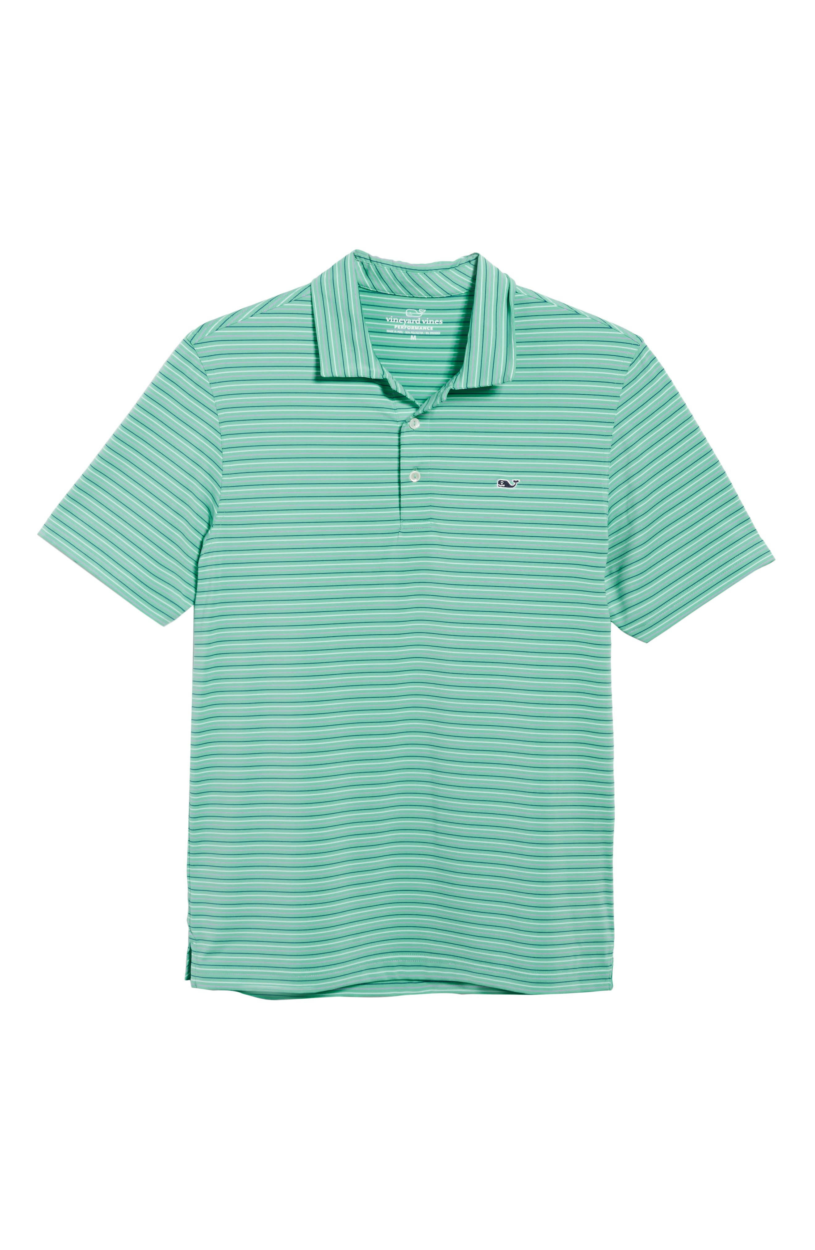 Multicolor Stripe Polo,                             Alternate thumbnail 6, color,                             Antigua Green