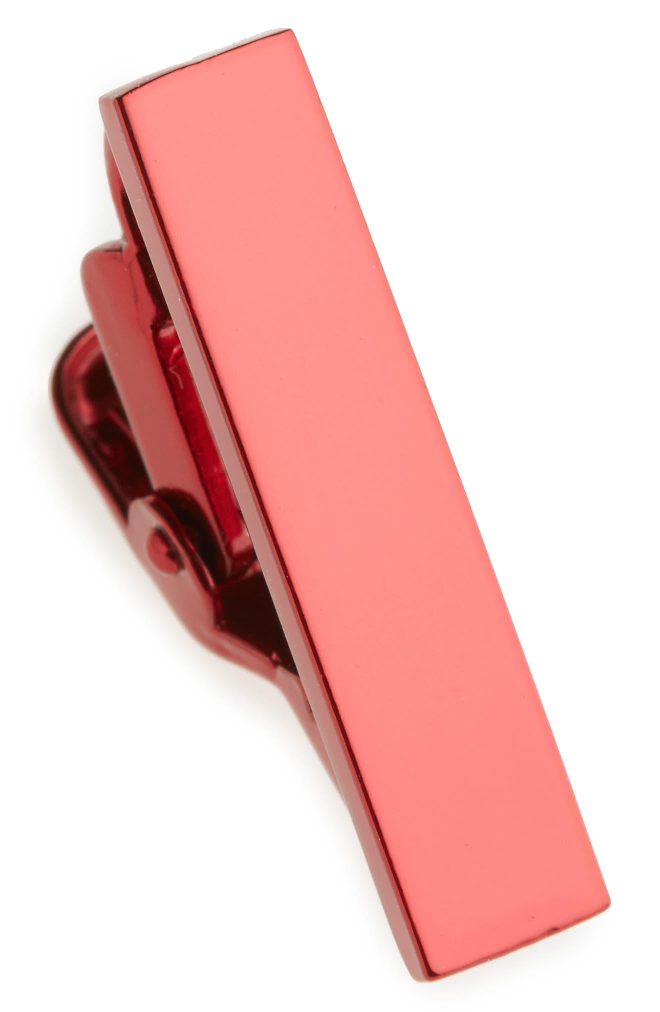 Metallic Color Tie Bar,                             Main thumbnail 1, color,                             Red