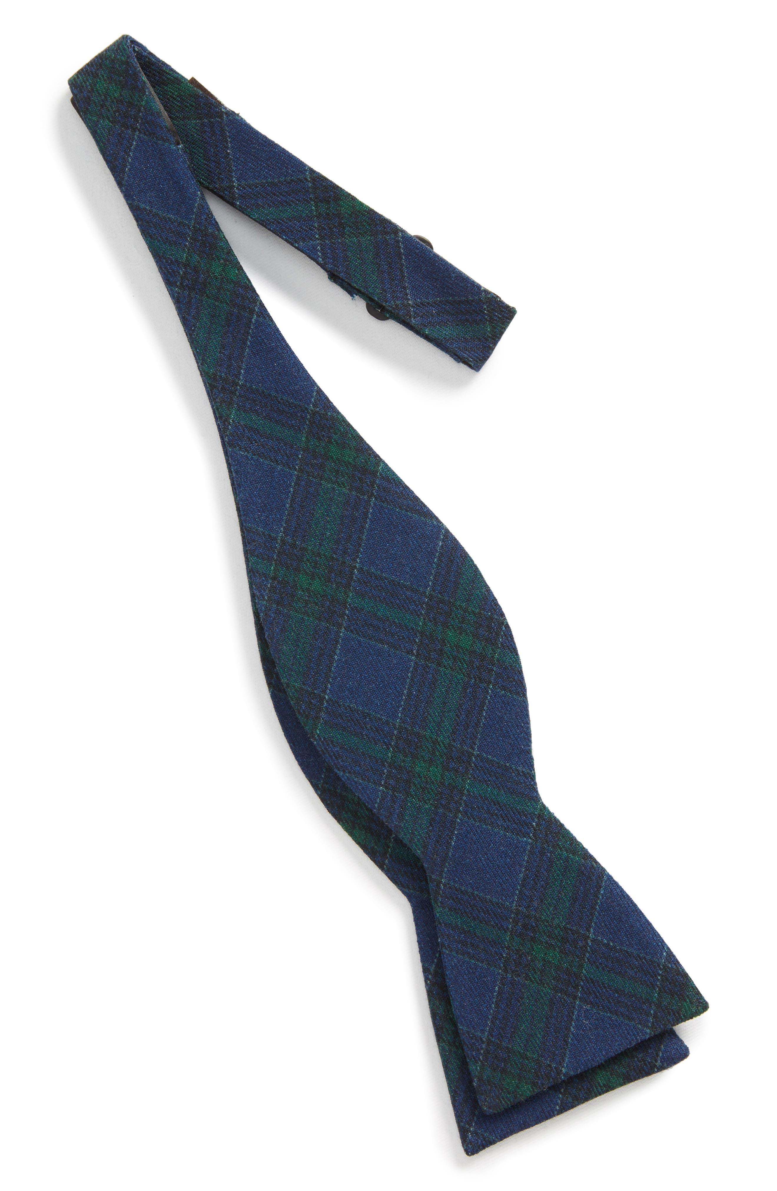 Alternate Image 2  - The Tie Bar Pittsfield Plaid Wool Bow Tie