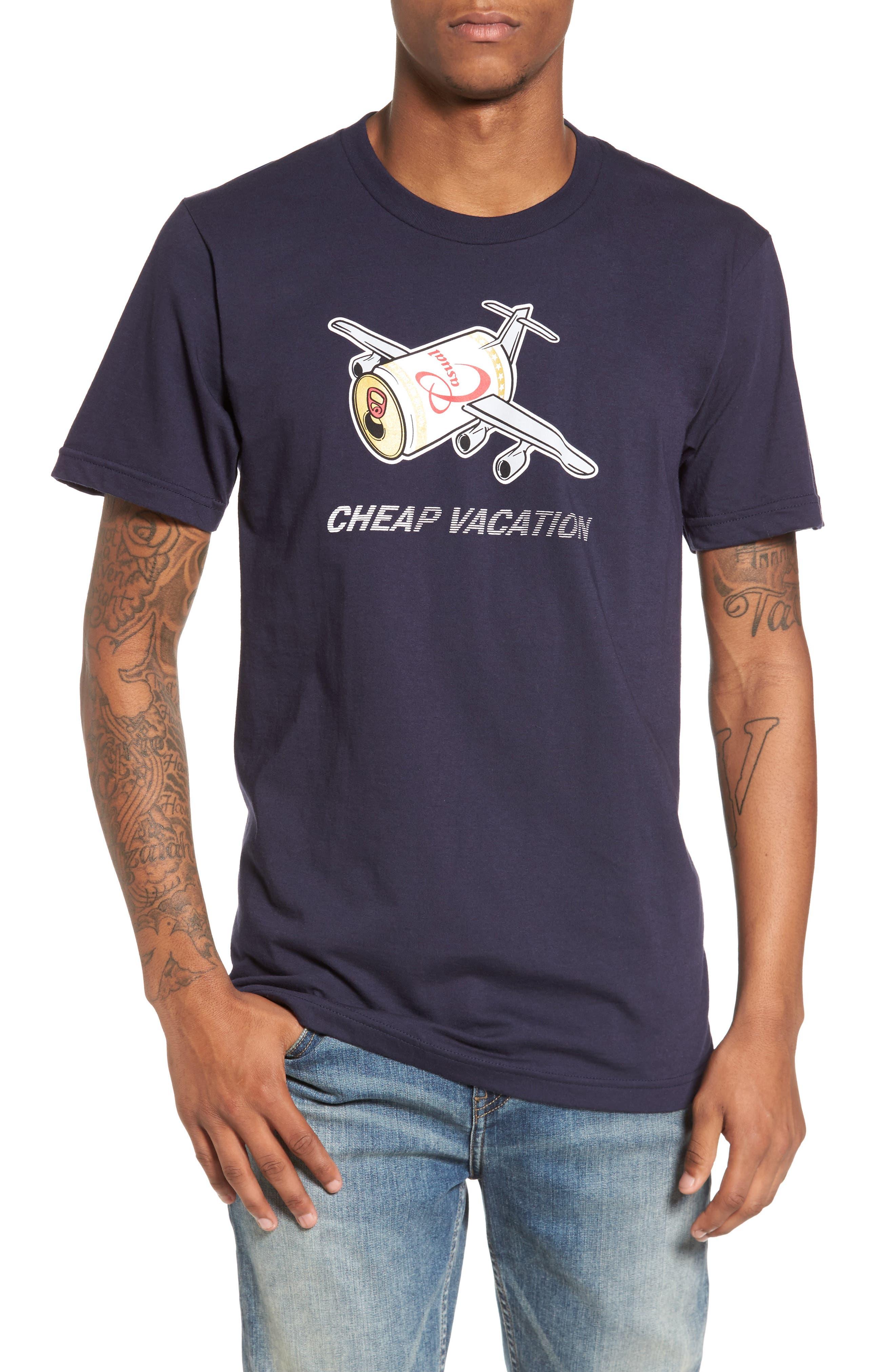 Cheap Vacation T-Shirt,                         Main,                         color, Navy Blue