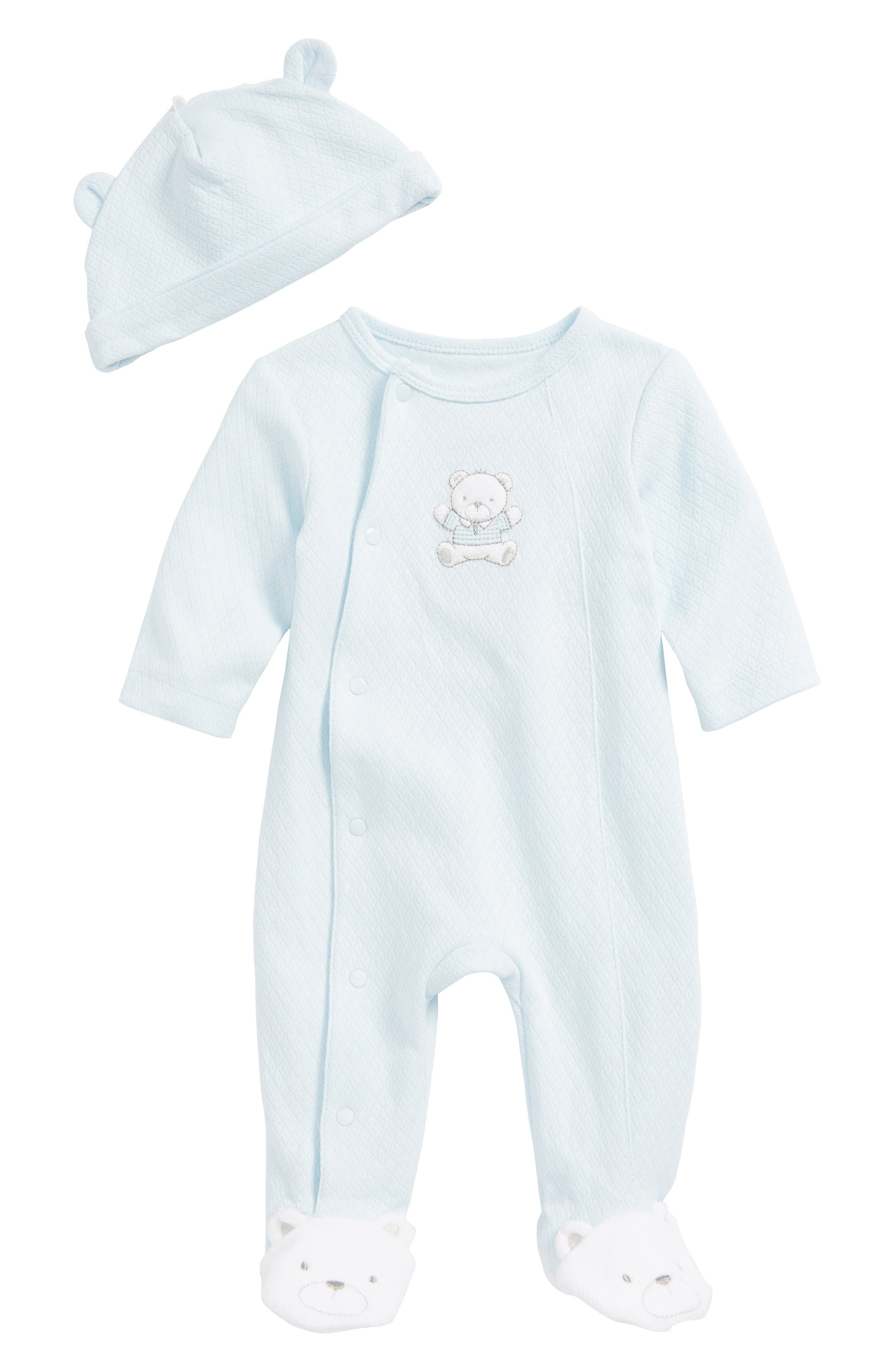 Little Me Baby Boys Velour Pattern Footie coCAPYtG