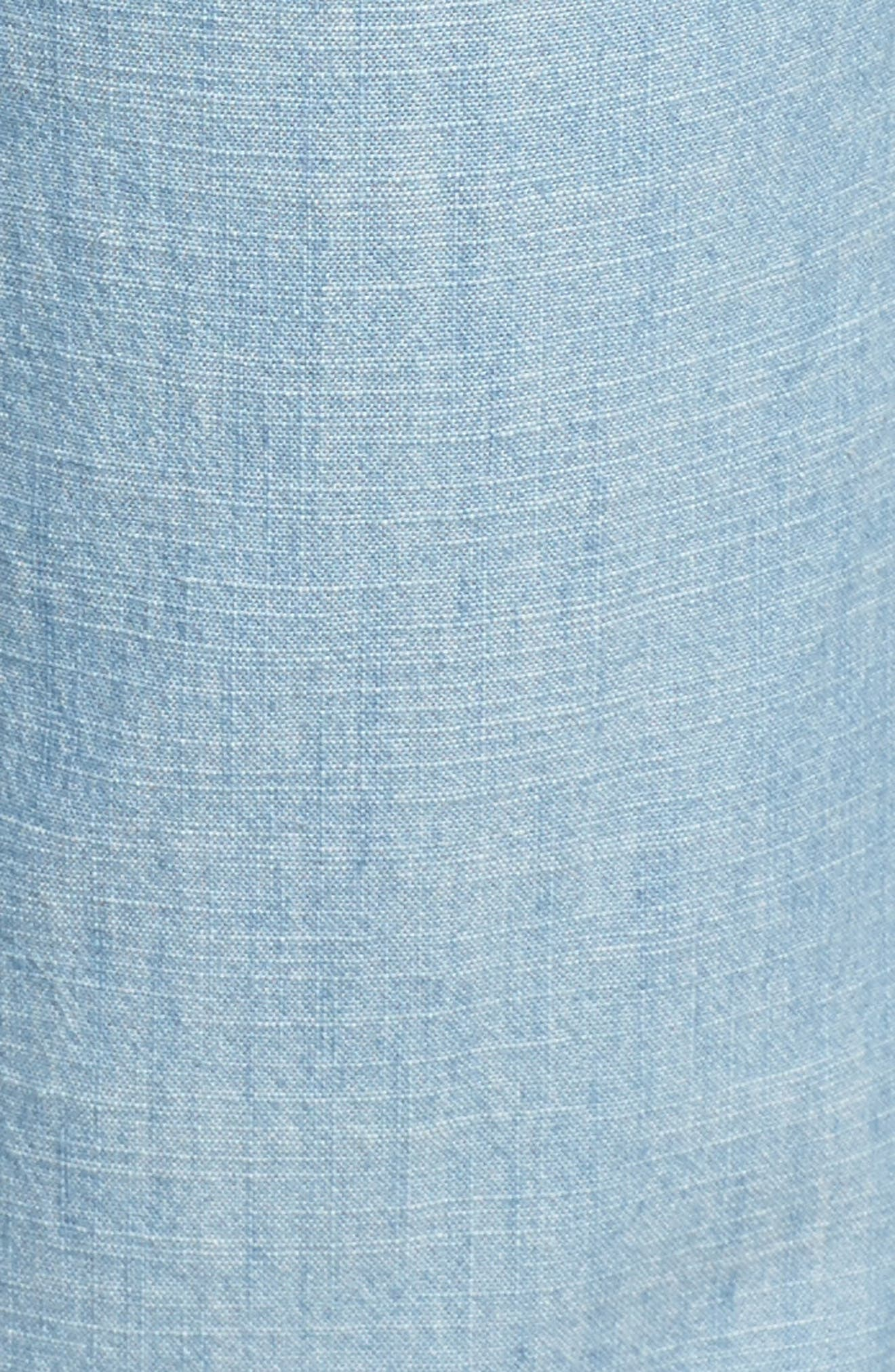 Drawstring Cotton Pants,                             Alternate thumbnail 6, color,                             Ice Lagoon