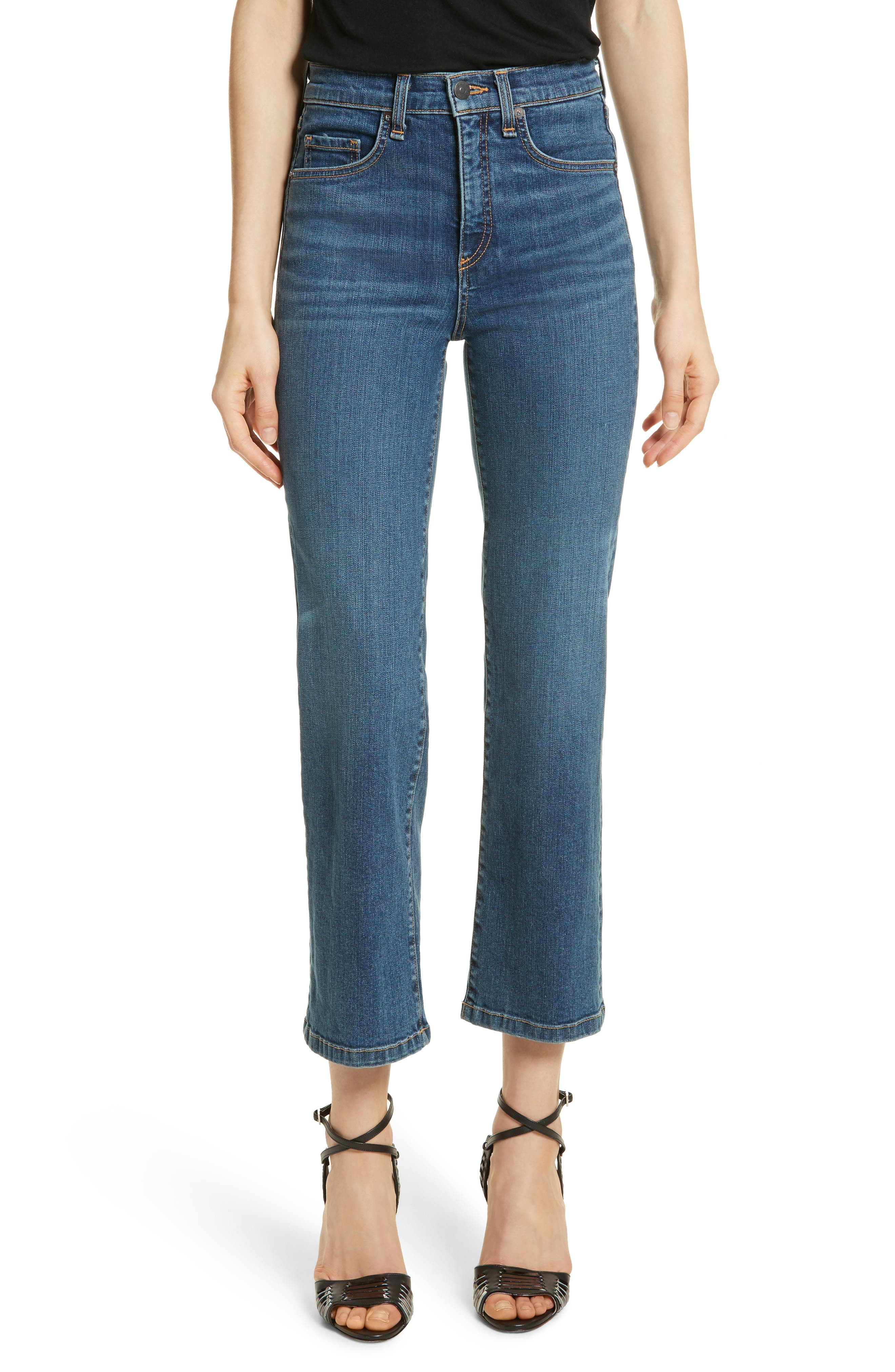 Jackie Crop Straight Leg Jeans,                         Main,                         color, Oxford