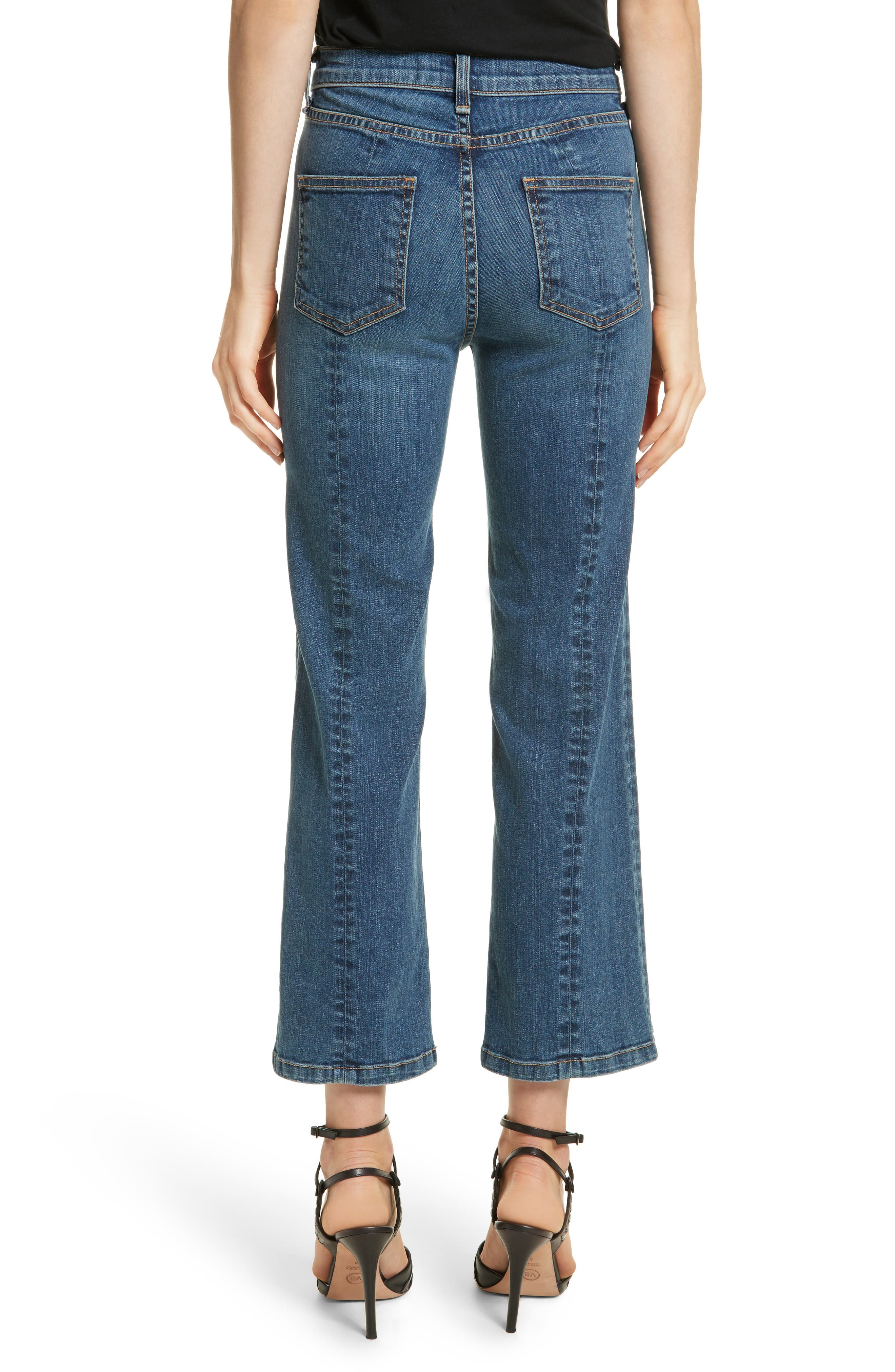 Jackie Crop Straight Leg Jeans,                             Alternate thumbnail 2, color,                             Oxford