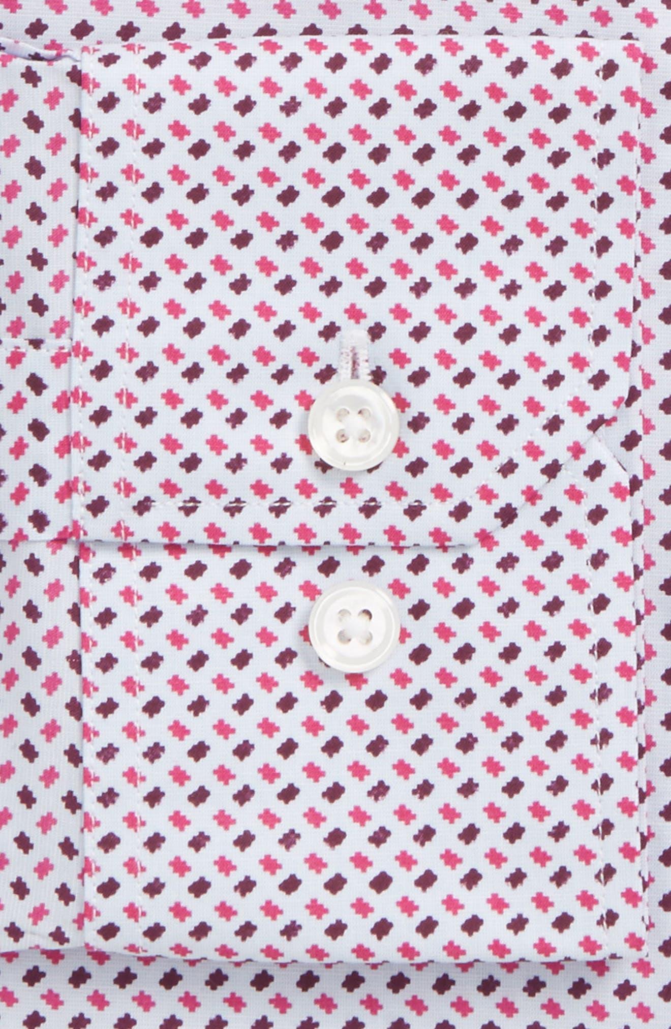 Easton Slim Fit Geometric Print Dress Shirt,                             Alternate thumbnail 2, color,                             French Rose