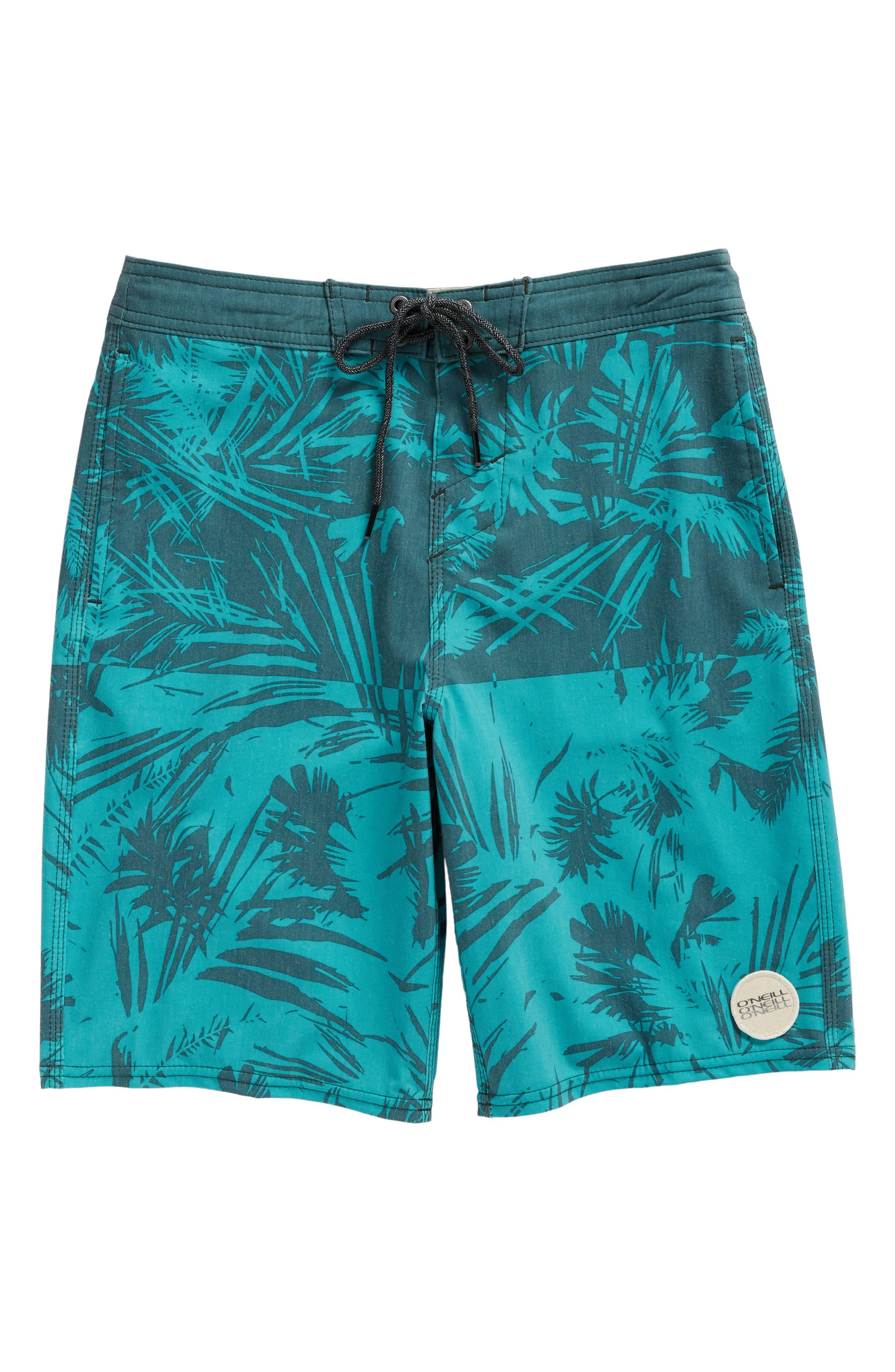 Inverted Cruzer Board Shorts,                             Alternate thumbnail 3, color,                             Aqua